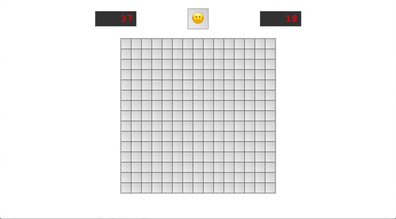 Minesweeper main page screenshot