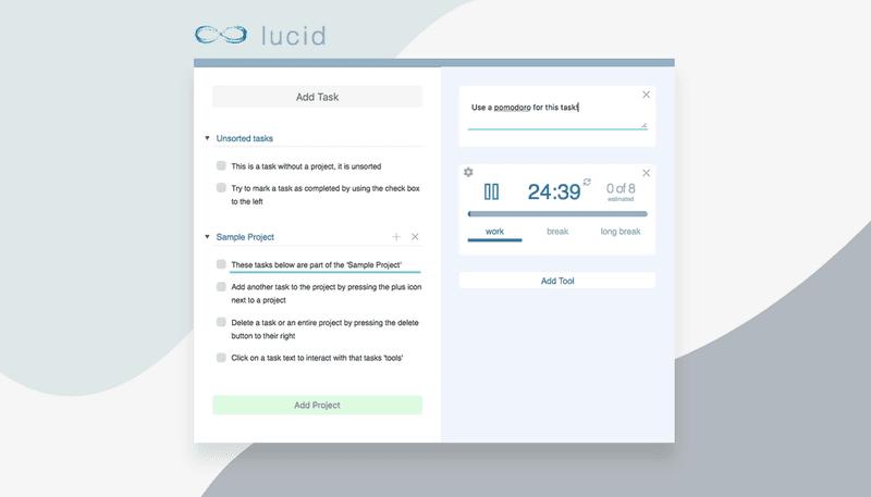 Lucid main page screenshot
