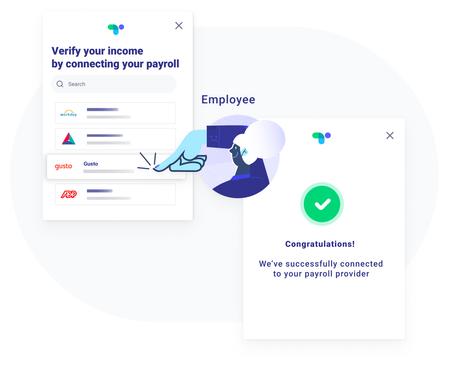 user selecting payroll provider