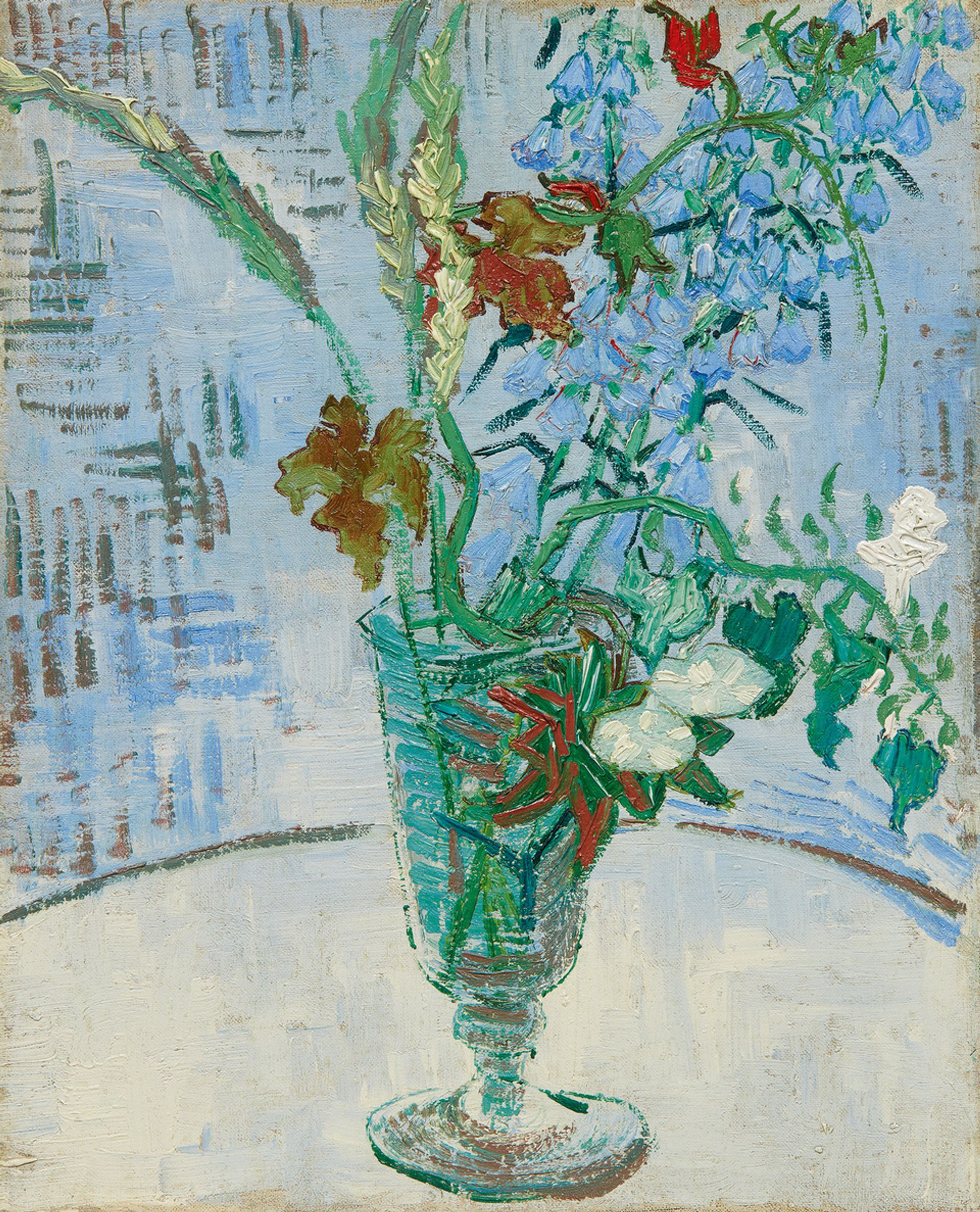 Vincent van Gogh's Fleurs dans un Verre (Flowers in a Glass, 1890) Courtesy of Sotheby's
