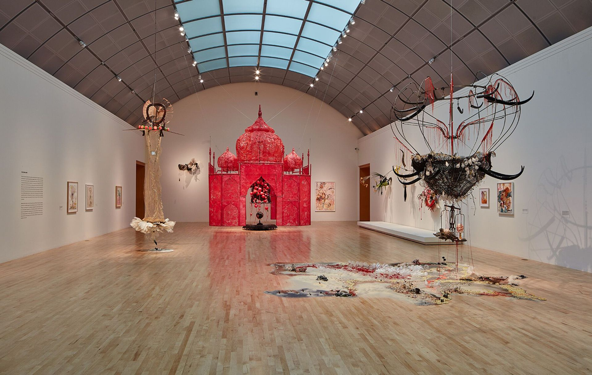 An installation view of Rina Banerjee: Make Me a Summary of the World at the San Jose Museum of Art JKA Photography