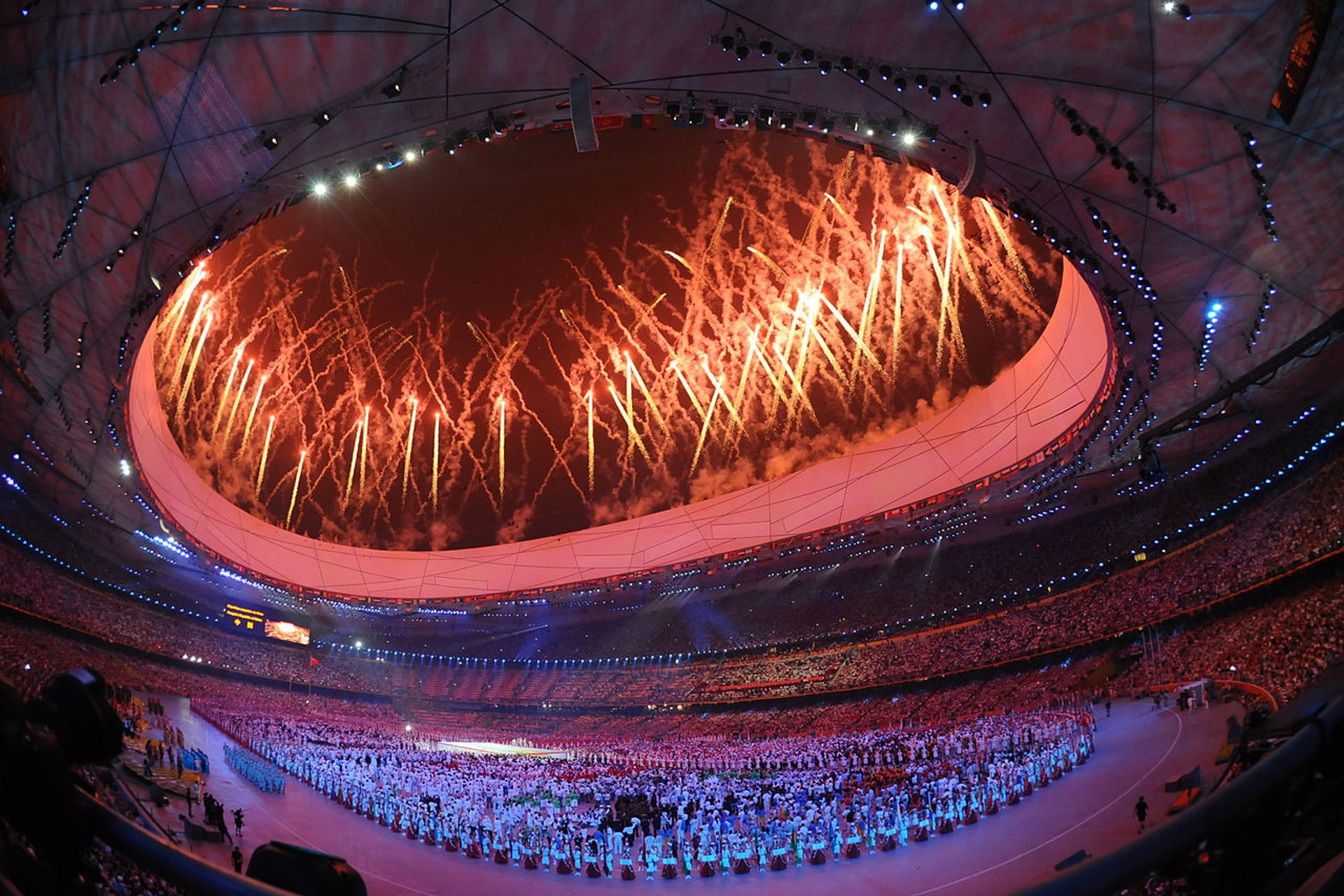 Part of Cai Guo-Qiang's display at the opening ceremony of the 2008 Olympics in Beijing, China
