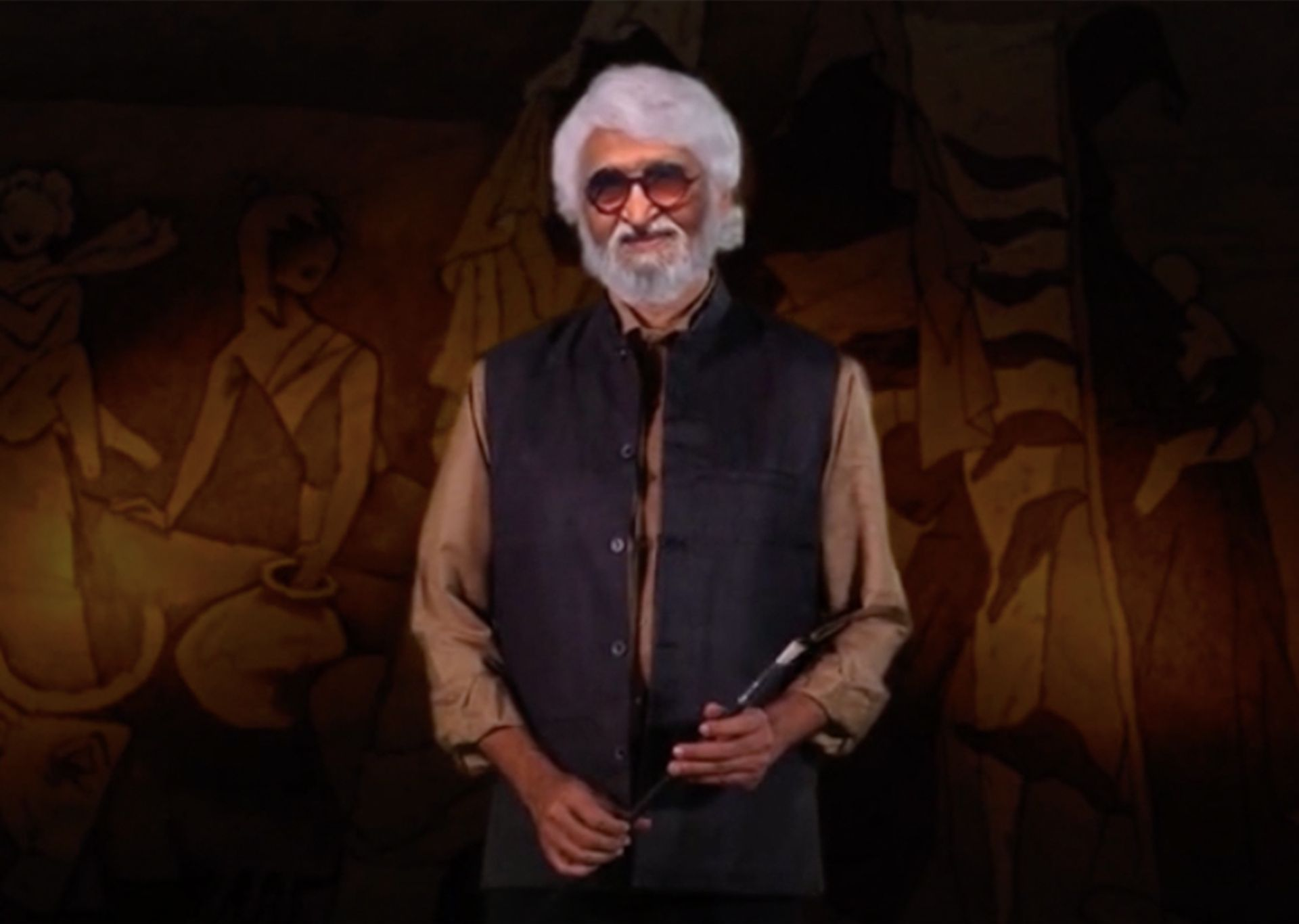 """A """"digital twin"""" of the artist M F Husain has been created by the Museum of Art and Photography in Bangalore Courtesy of Museum of Art & Photography (MAP), Bengaluru"""