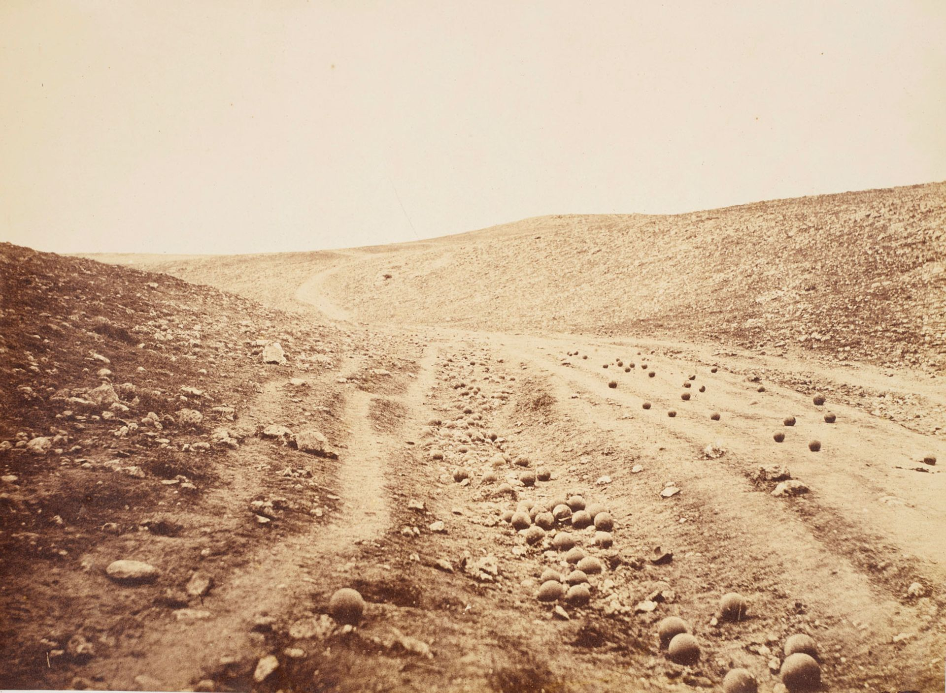 Roger Fenton's TheValley of the Shadow of Death (1855) © Royal Collection Trust; Her Majesty Queen Elizabeth II 2018