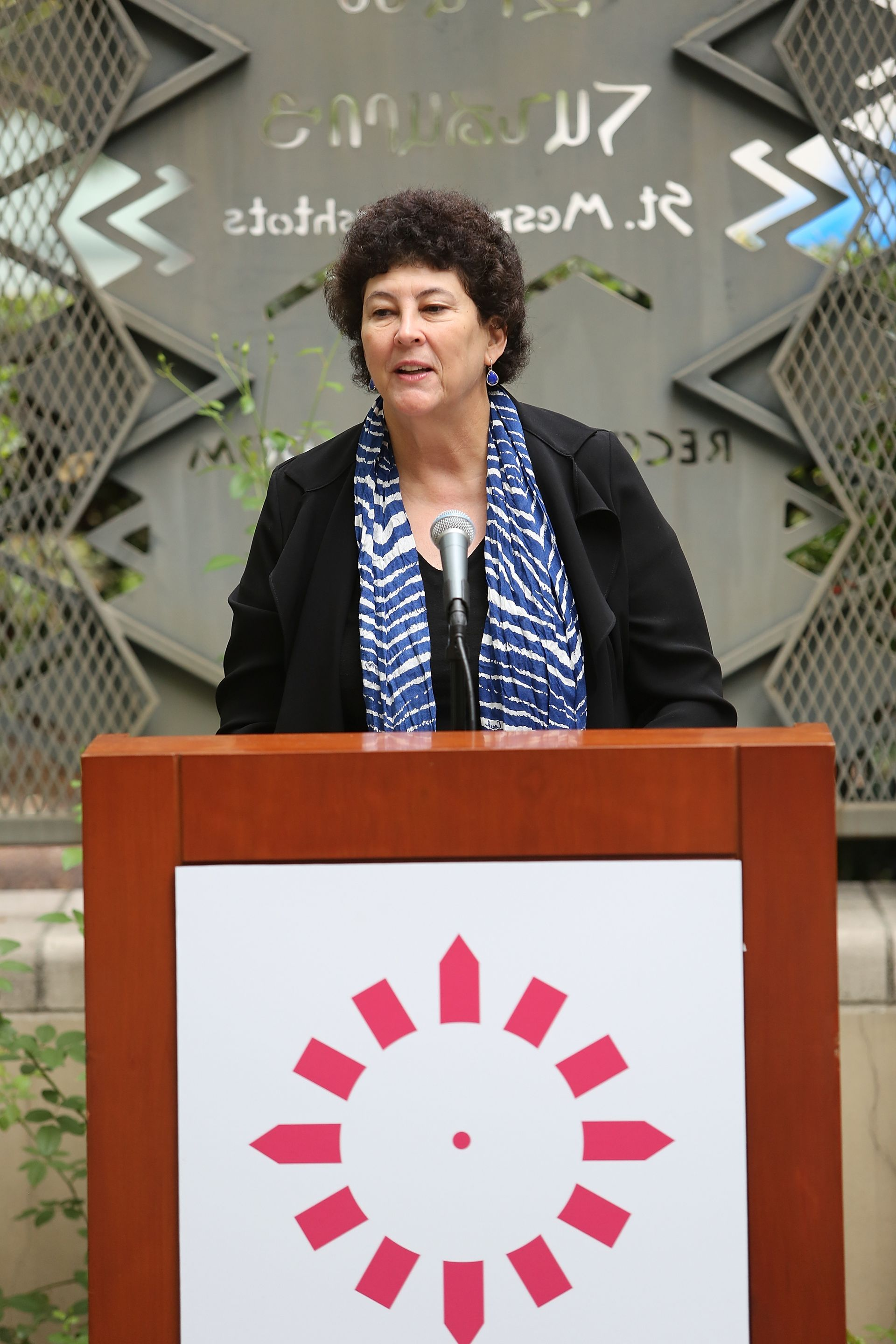 Deborah Marrow, the Director the Getty Foundation speaking during a press conference on the economic impact of Pacific Standard Time: Art In L.A., 1945-1980 in 2012 Photo: Ryan Miller/Invision/AP