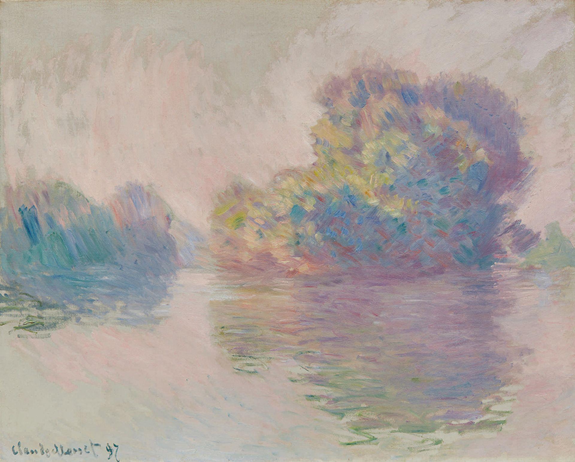 Claude Monet, Les Iles à Port-Villez, 1897 Courtesy of Sotheby's