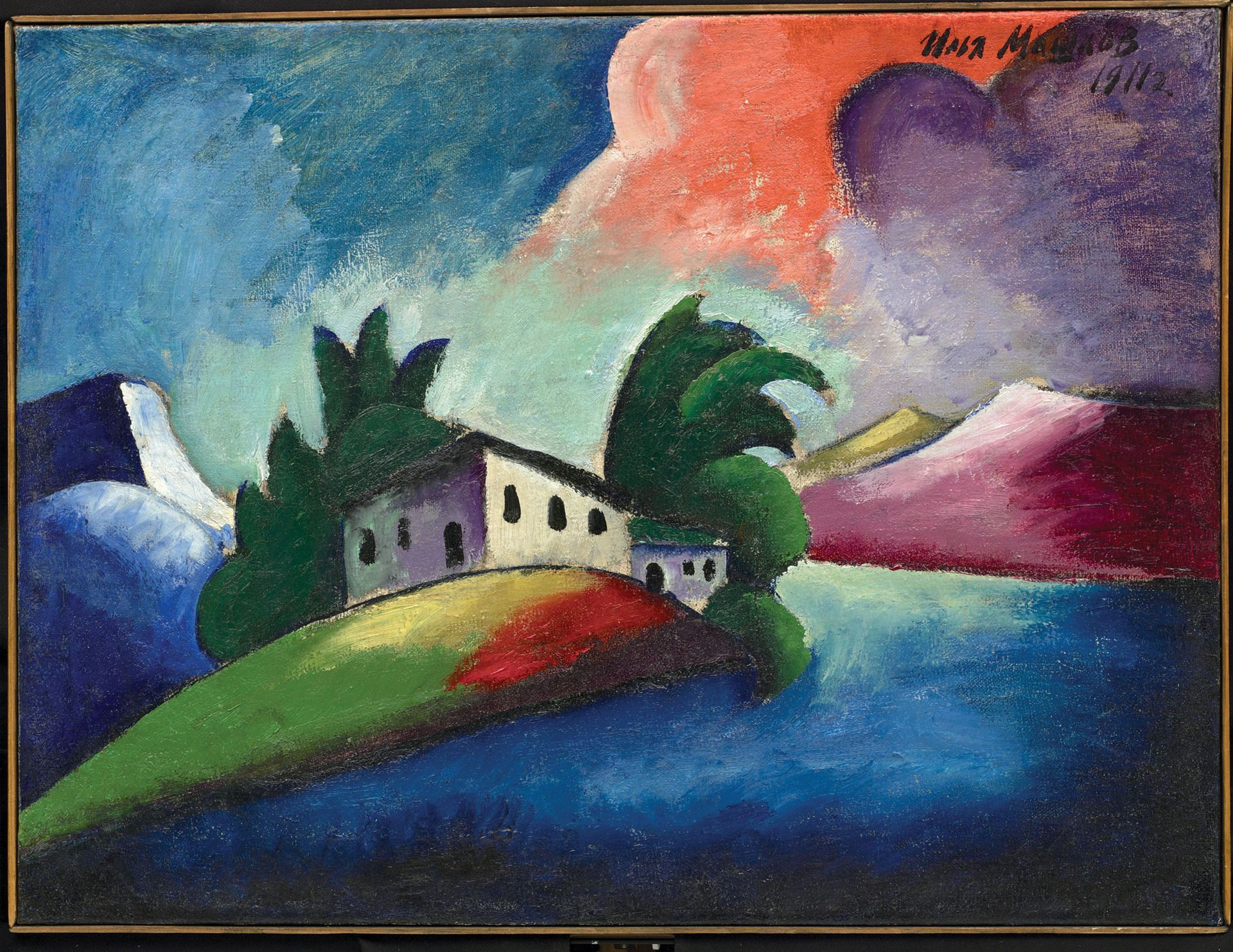 Avant-garde works of art such as Ilya Mashkov's Landscape (1911) were hidden in storage in the Russian regions due to Soviet censorship © Vasnetsov Brothers Art Museum