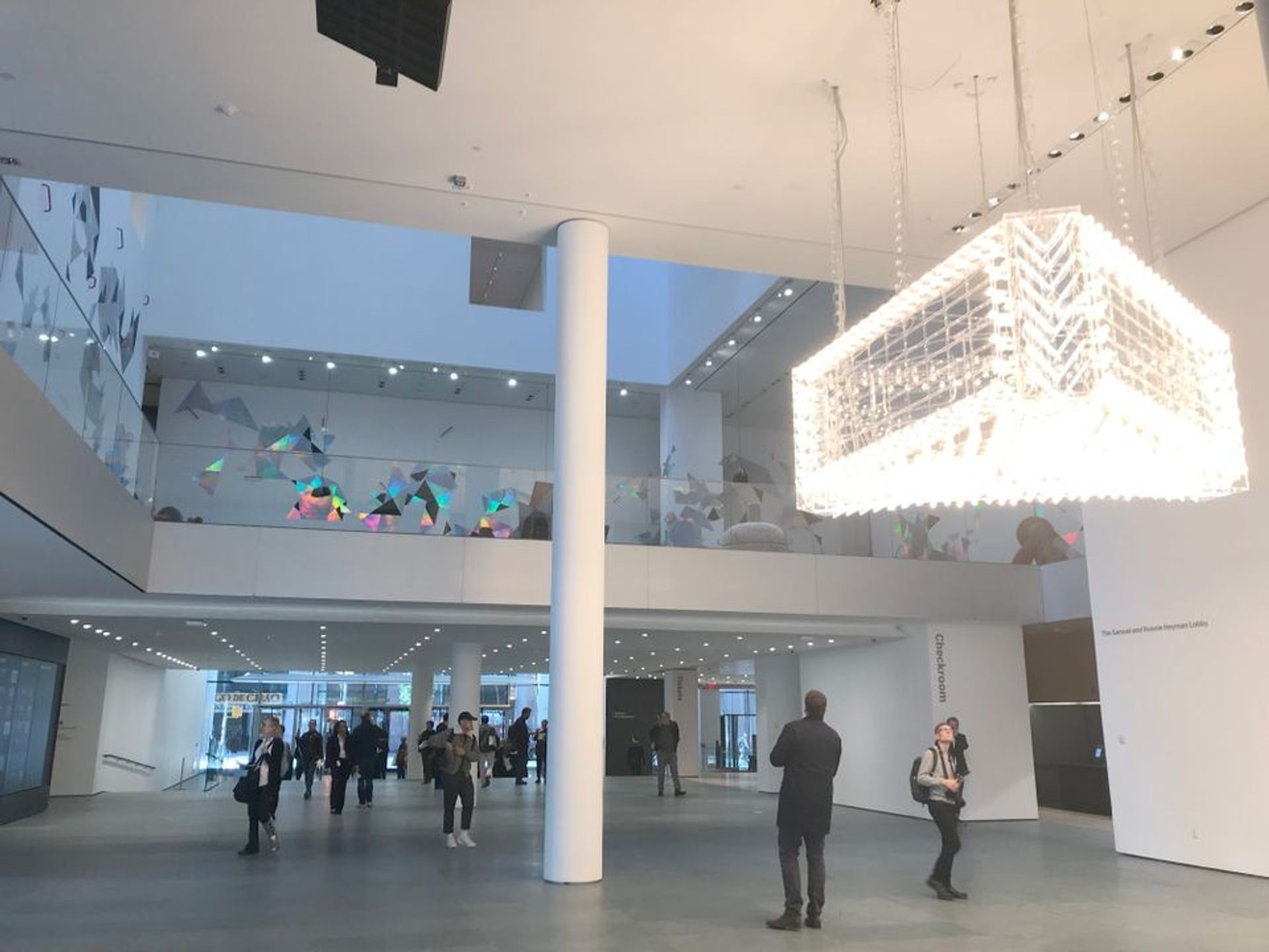 The lobby and atrium of the Museum of Modern Art at its grand reopening last October. © Helen Stoilas, The Art Newspaper