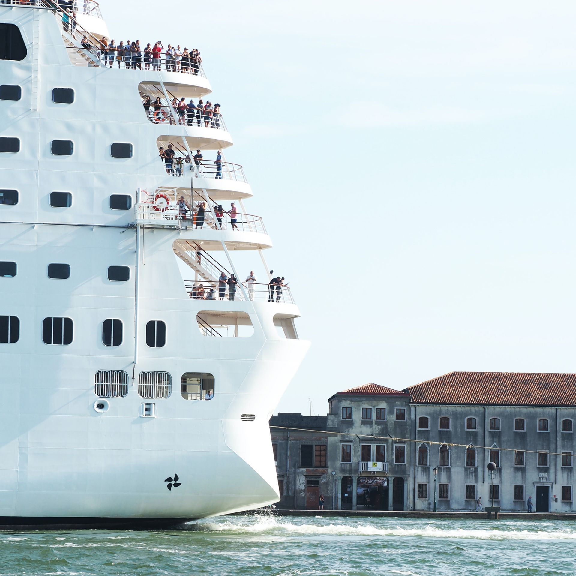 The first cruise ship since the start of the pandemic is due to sail through Venice on 5 June © Drew Harbour