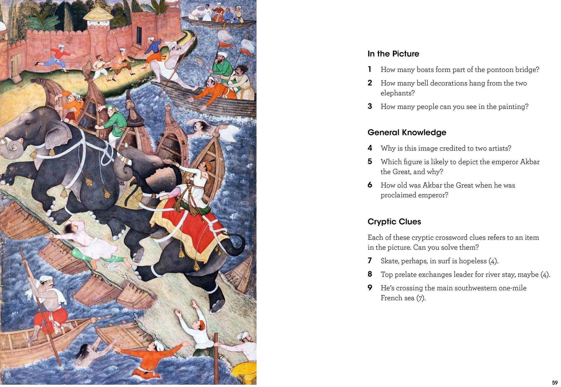 Basawan and Chetar Munti, Akbar's Adventures with the Elephant Hawa'i (around 1590-95) Courtesy of the publisher