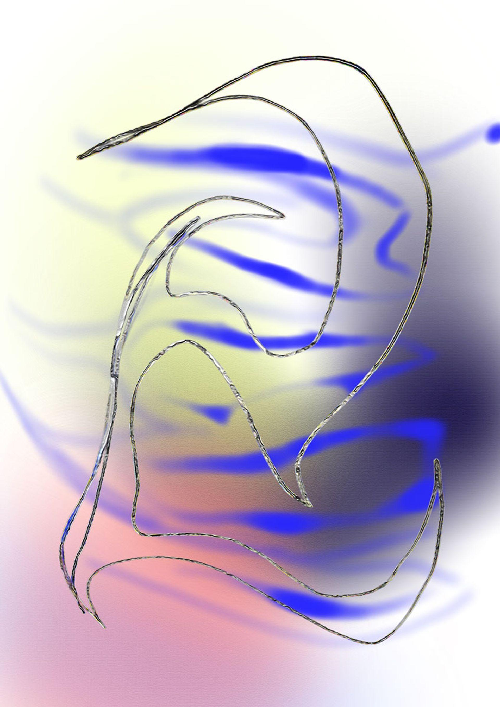 Walking into the Atmosphere, one of nine digital works by Anna Taganzeva-Kobzeva Anna Taganzeva-Kobzeva, courtesy The Art Exchange
