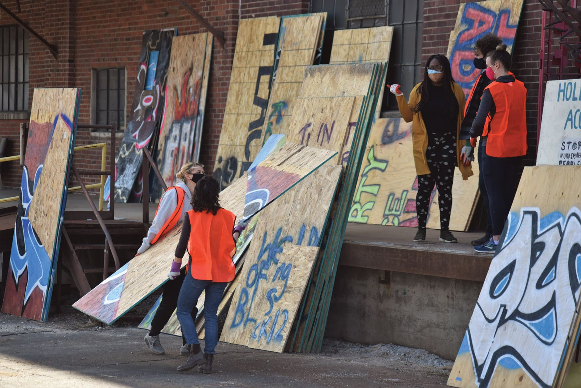 Memorialize the Movement is dedicated to the preservation of the plywood murals created in response to George Floyd's death Photo: Chioma Uwagwu, courtesy of Memorialize The Movement