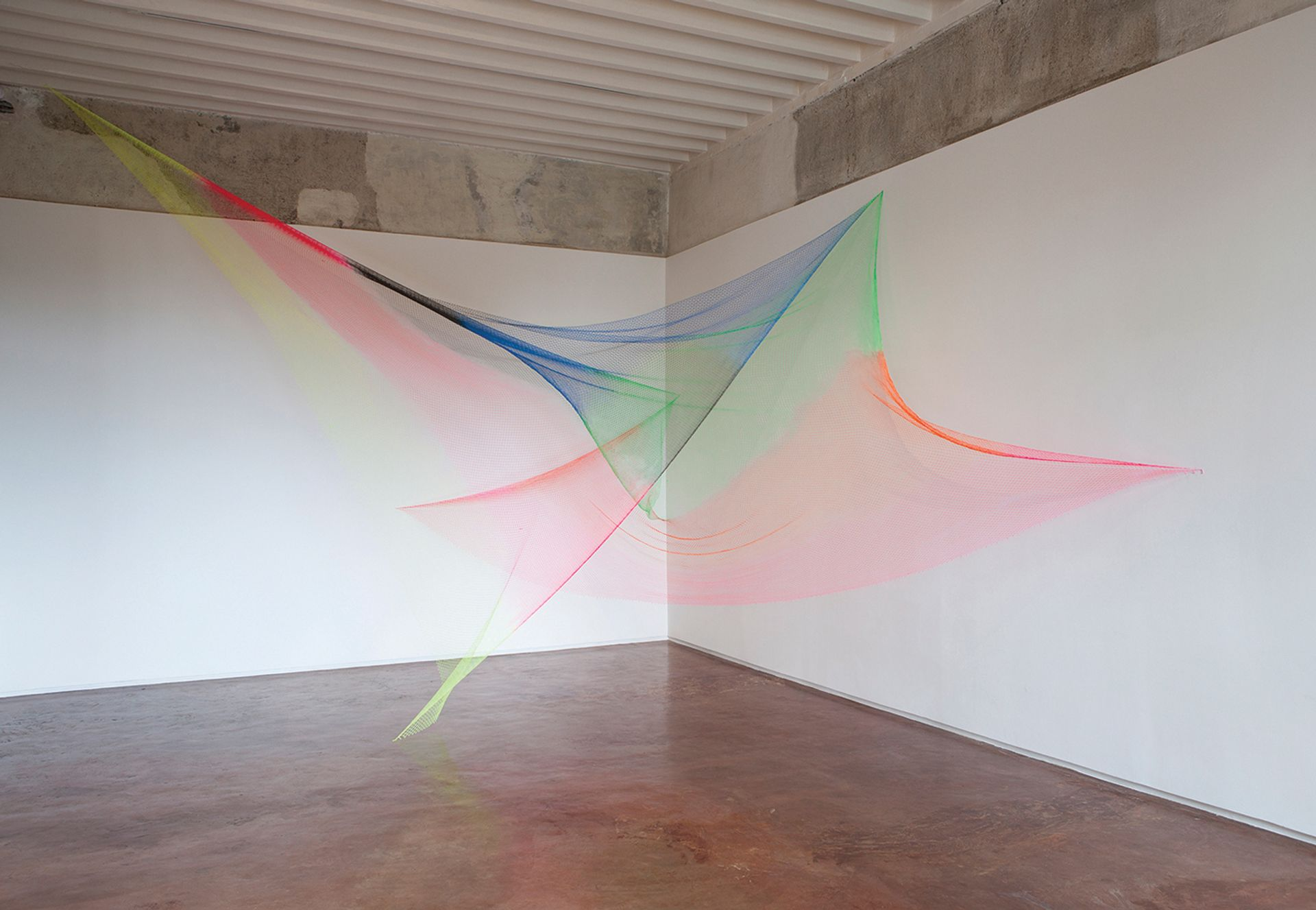 A fishing net forms the basis for Rana Begum's No. 950 /Net (2019) Mohammed Chiba, courtesy Jhaveri Contemporary