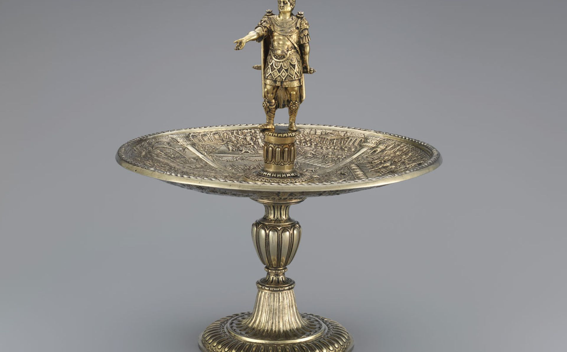 Galba figure and Caligula dish from the Aldobrandini Tazze, ca. 1587–99. The set is thought to have been made for the Habsburg dynasty The Metropolitan Museum of Art
