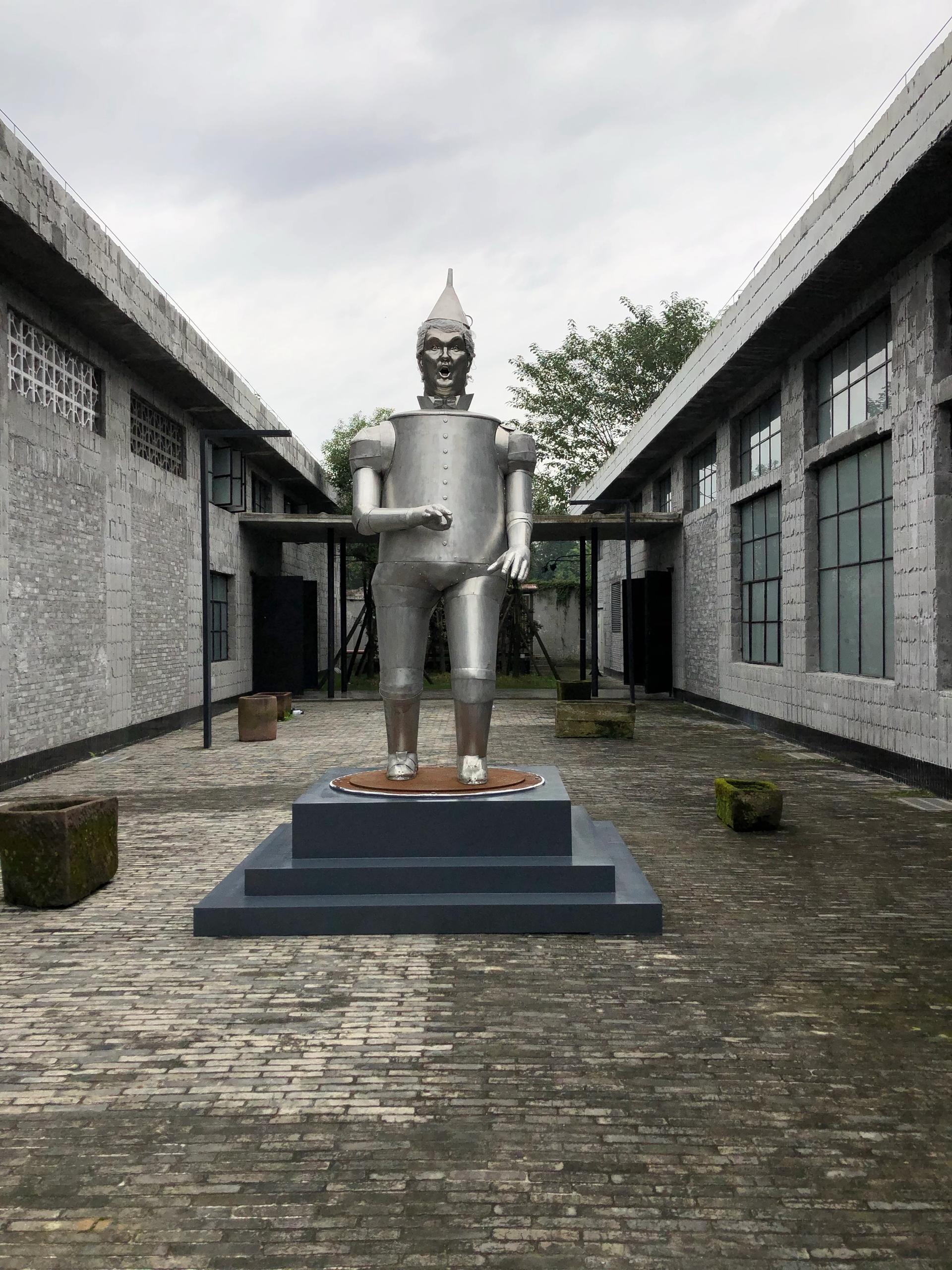 Coco Fusco's Tin Man of the Twenty-First Century arrives at China's Anren Biennale Courtesy of Tettero, Anren Biennale 2019 © Coco Fusco/Artists Rights Society (ARS), New York