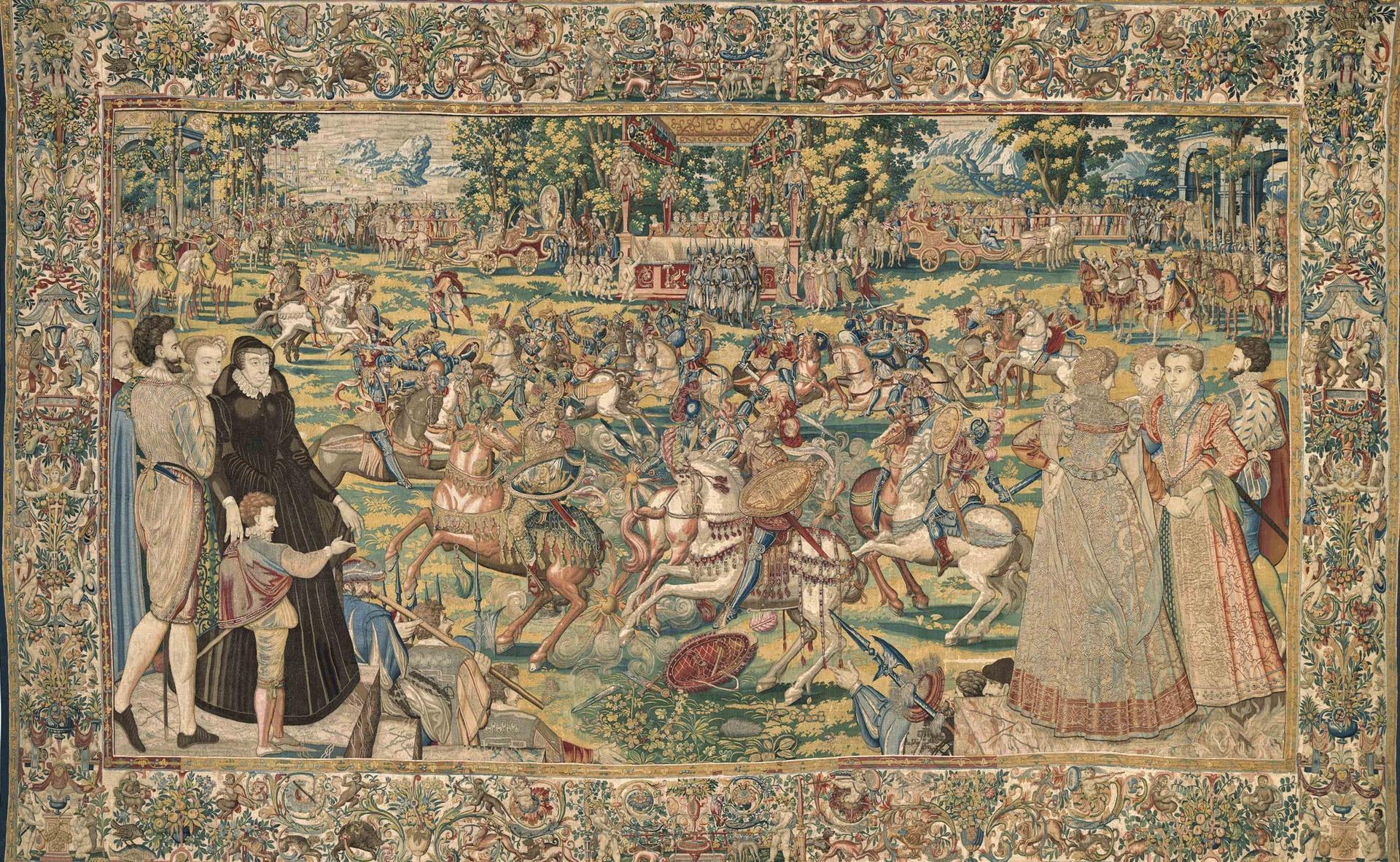 Brussels Master Weaver MGP, Tournament (around 1576) Courtesy of the Gallerie degli Uffizi, Palazzo Pitti. Photo: Roberto Palermo