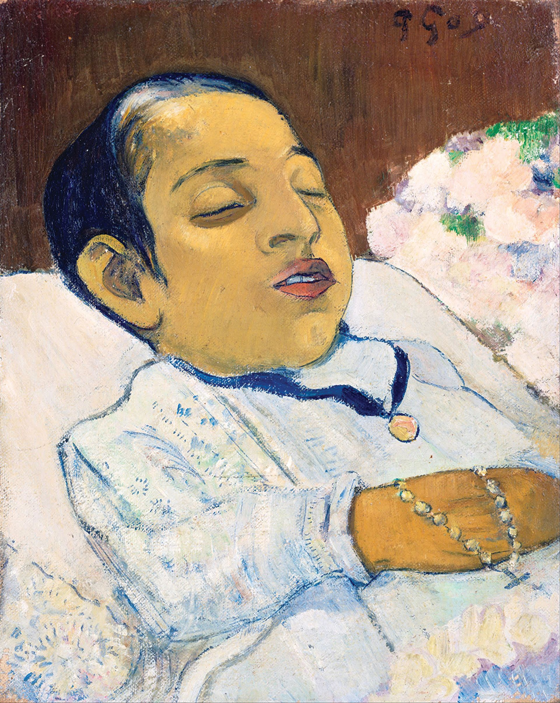 Paul Gauguin's 1892 deathbed portrait of Atiti currently on loan at the National Gallery, London Kröller-Müller Museum.