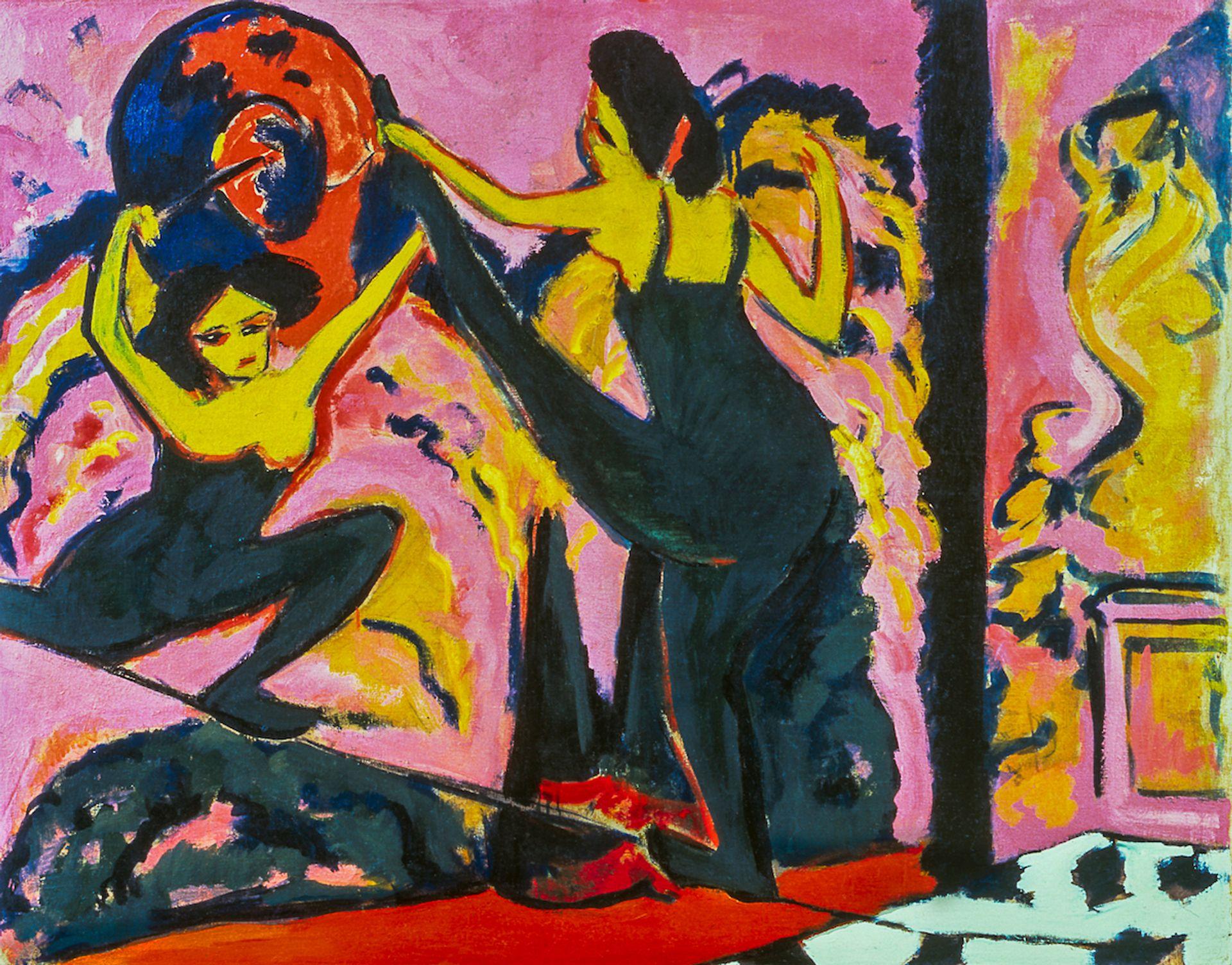 Ernst Ludwig Kirchner, Tightrope Walk, 1908-10 Neue Galerie New York