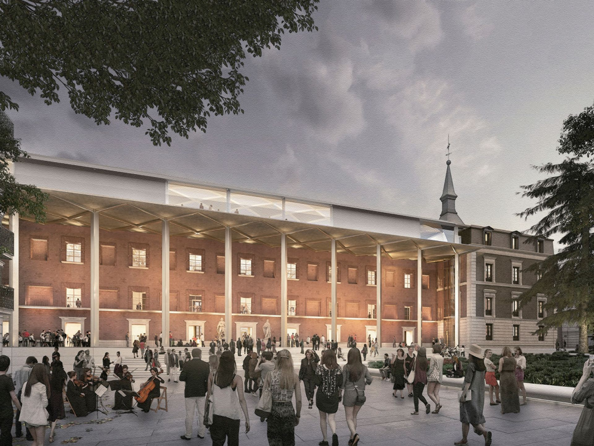 Foster + Partners extension to the Prado Museum, Madrid. © Foster + Partners