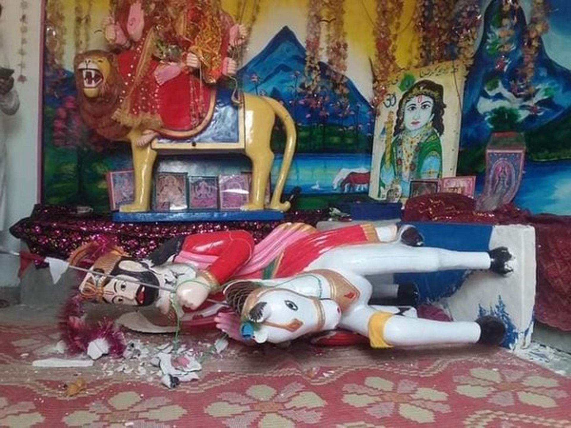 Ganesha temple in Bhong was attacked on Wednesday