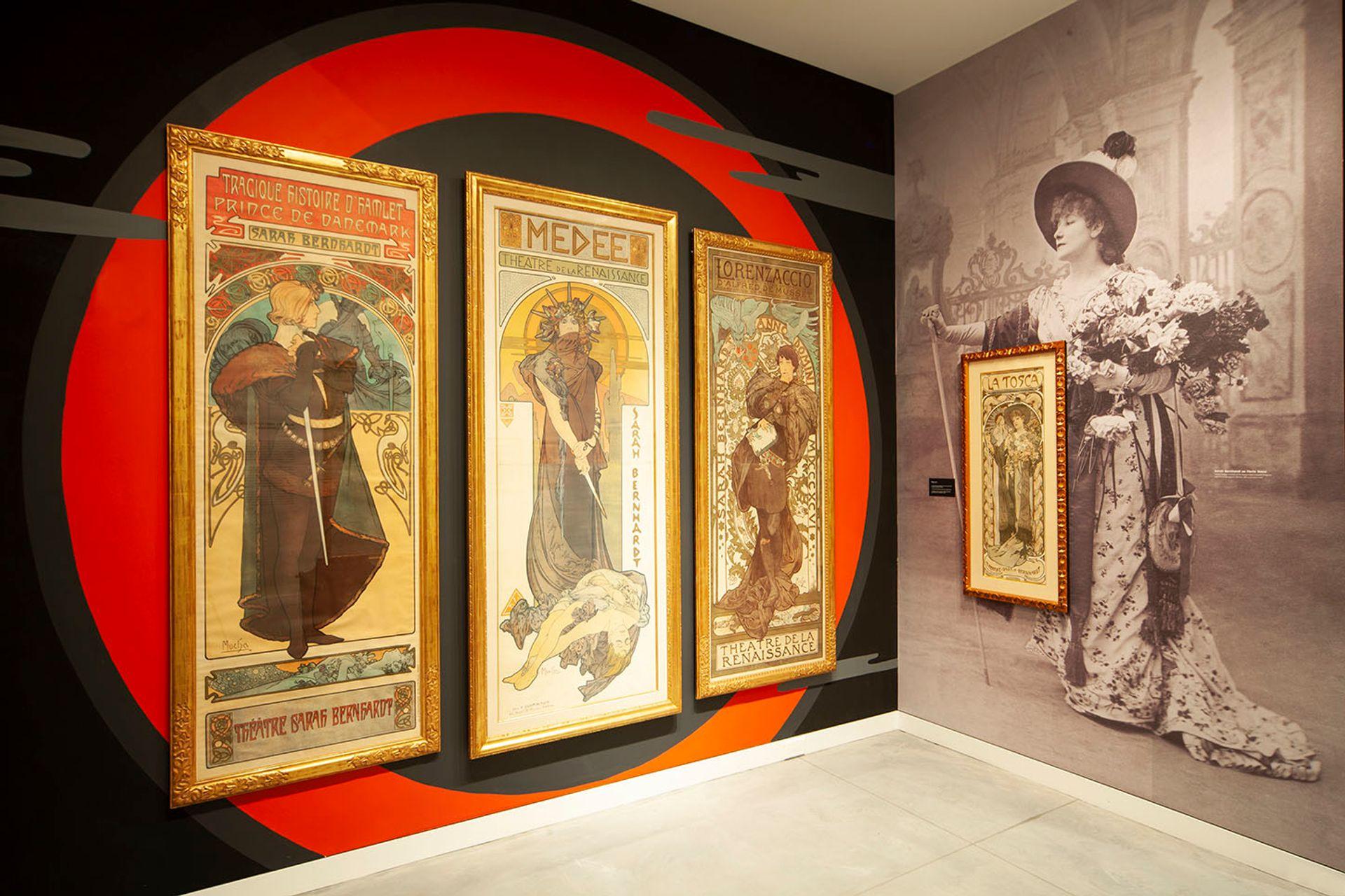 Poster House's inaugural exhibition, Alphonse Mucha: Art Nouveau / Nouvelle Femme Photo: Stephanie Powell