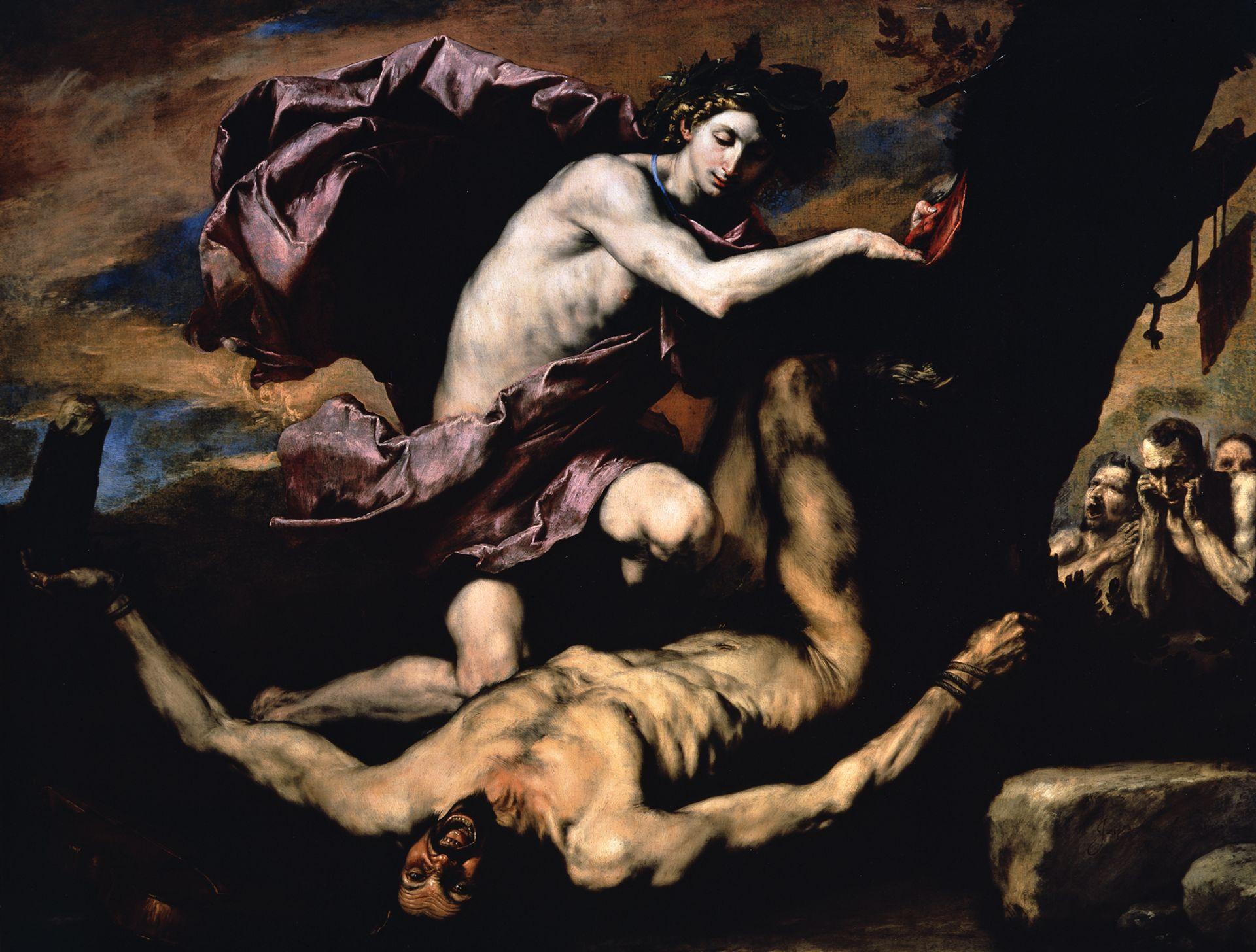 Jusepe de Ribera's Apollo and Marsyas (1637) is on loan from Naples © Museo e Real Bosco di Capodimonte