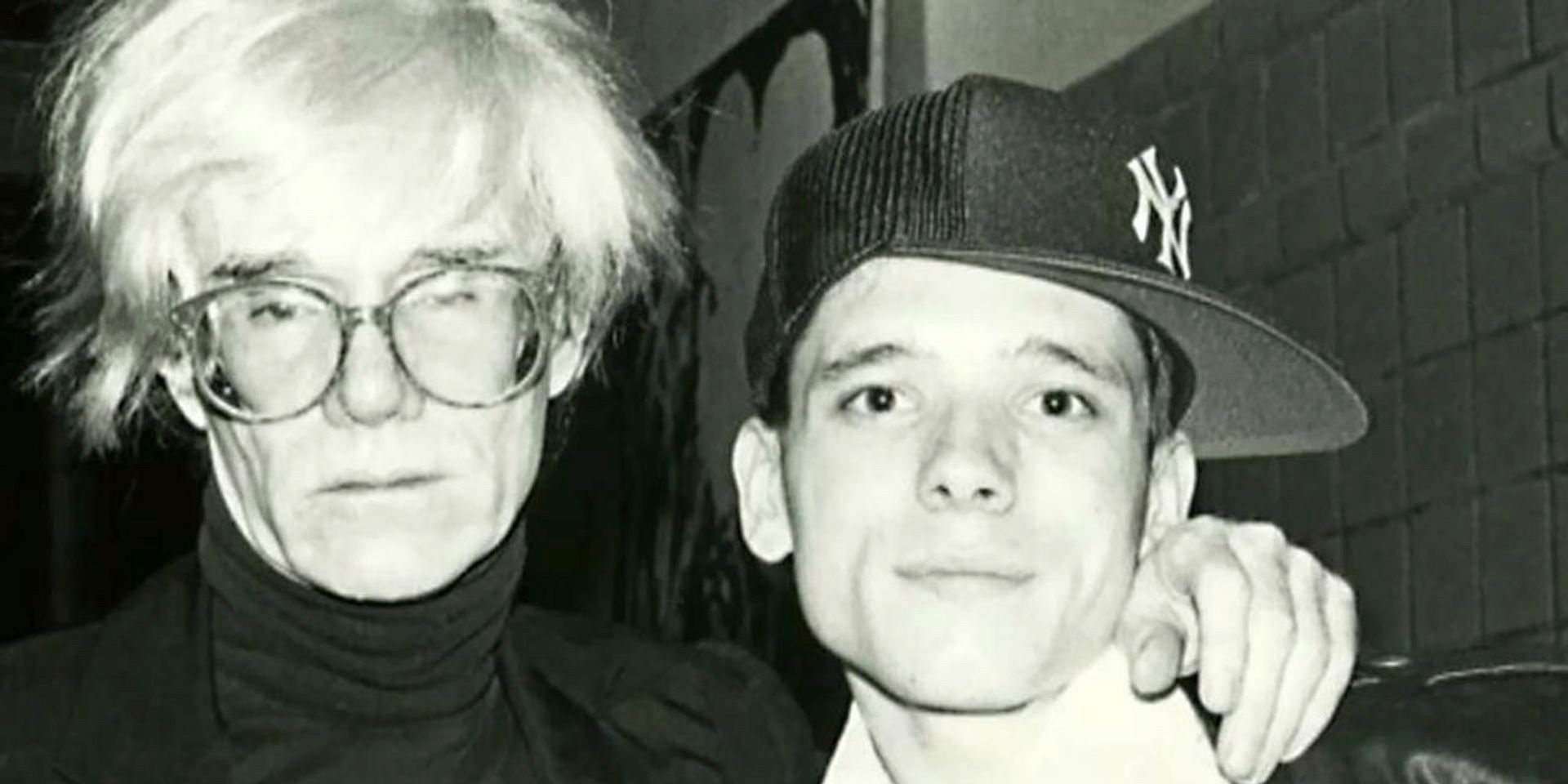 Andy Warhol with a young Jeremy Deller © Jeremy Deller