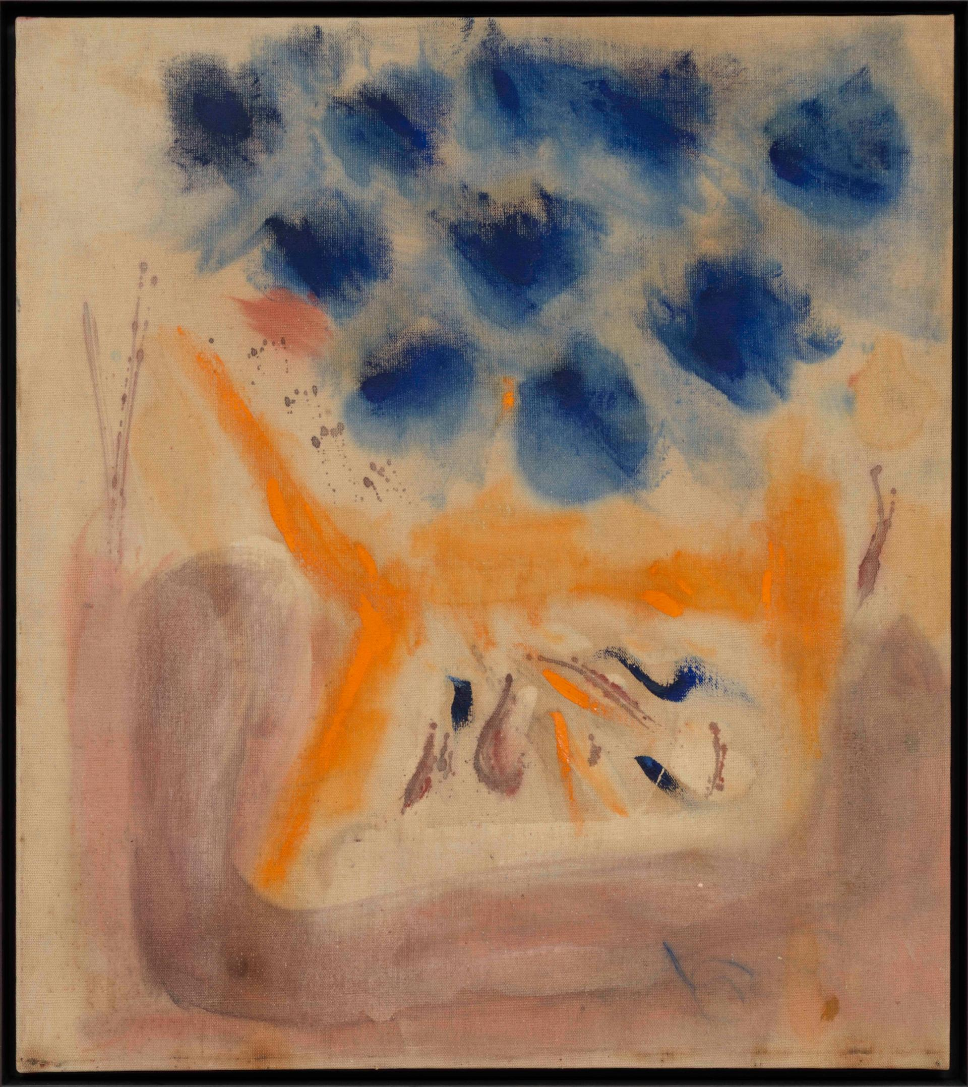With Blue (1953) by Helen Frankenthaler © 2019 Helen Frankenthaler Foundation, Inc./Artists Rights Society (ARS), New York. Photo: Rob McKeever. Courtesy Gagosian