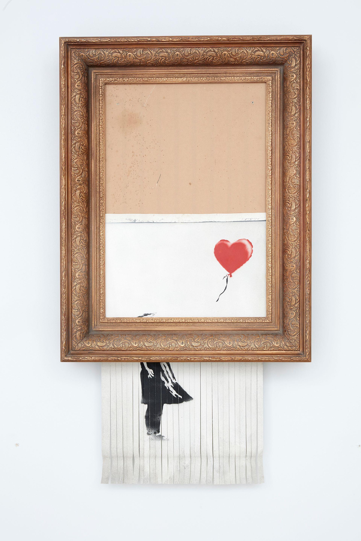 Banksy's Love is in the Bin (2018) Courtesy of Sotheby's