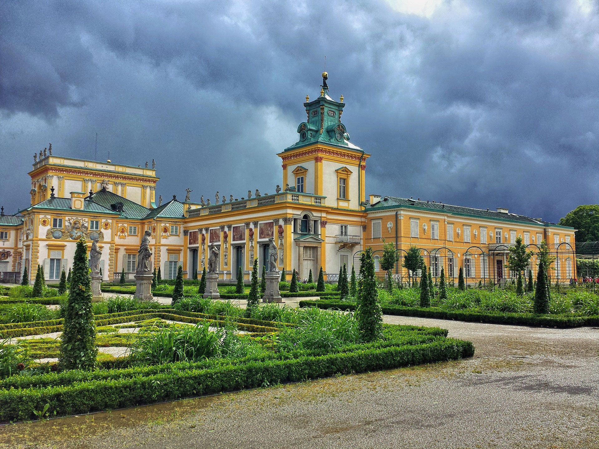 Works previously owned by the Branicki family were recovered by the Polish government and placed in Wilanow Palace, which had been previously seized from the family by the government