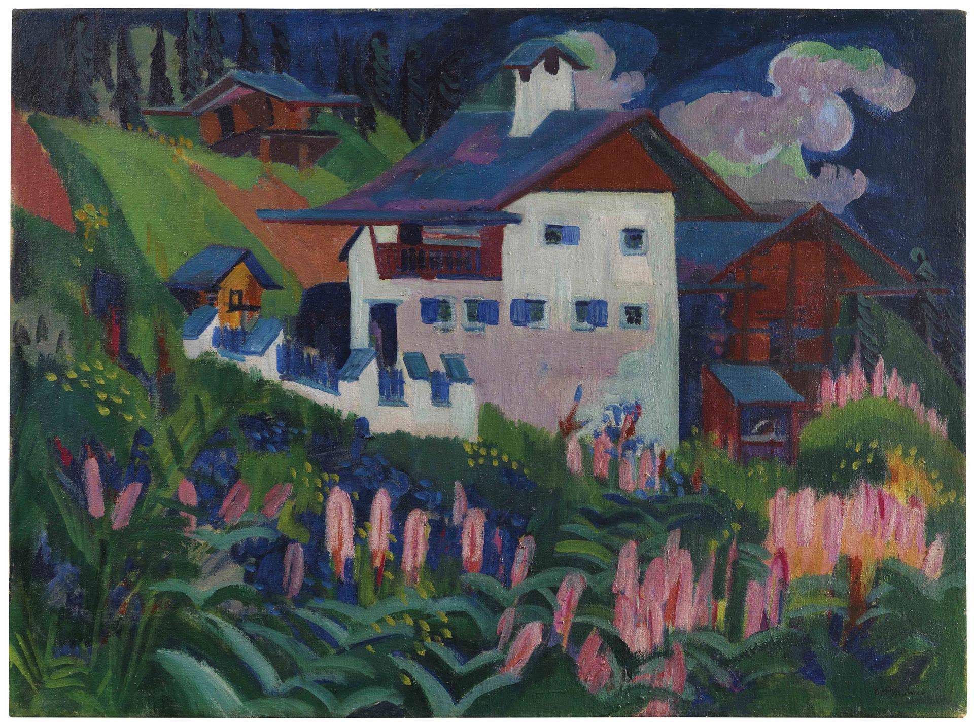Ernst Ludwig Kirchner's Our House, sold for €1.7m Courtesy of Ketterer Kunst
