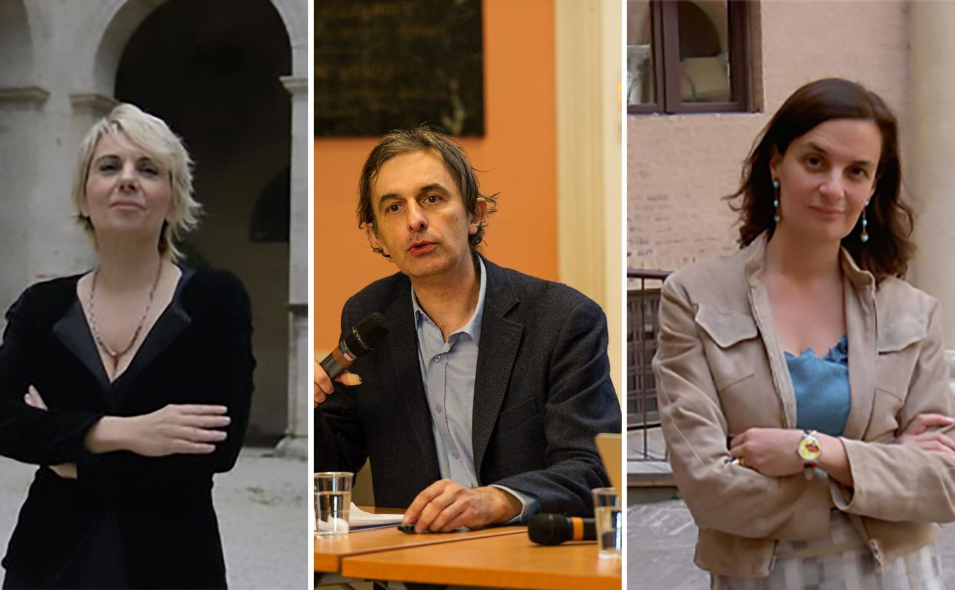 Edith Gabrielli (left) and Francesca Cappelletti (right) are two of the six women hired while Stéphane Verger (centre) is the only foreigner Verger: © Romain Étienne, Item, 2016