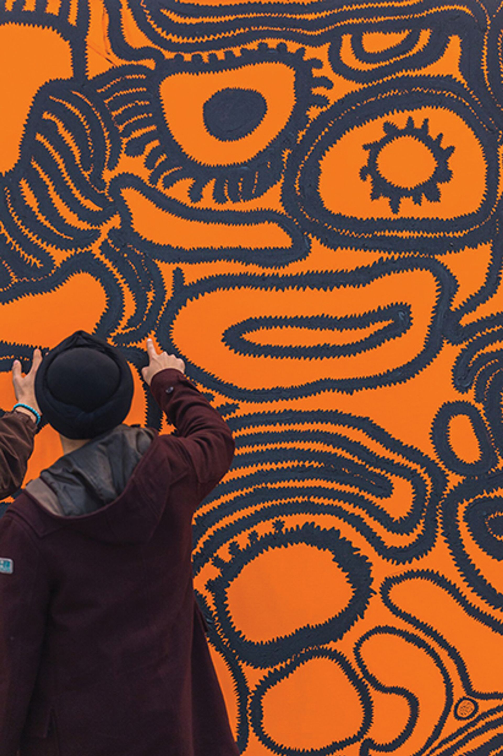 Shape of my Heart; by Yayoi Kusama (2015) which was exhibited for the first time at the India Art Fair 2018. © Yayoi Kusama; Courtesy of David Zwirner. Photo: Andy Barnham