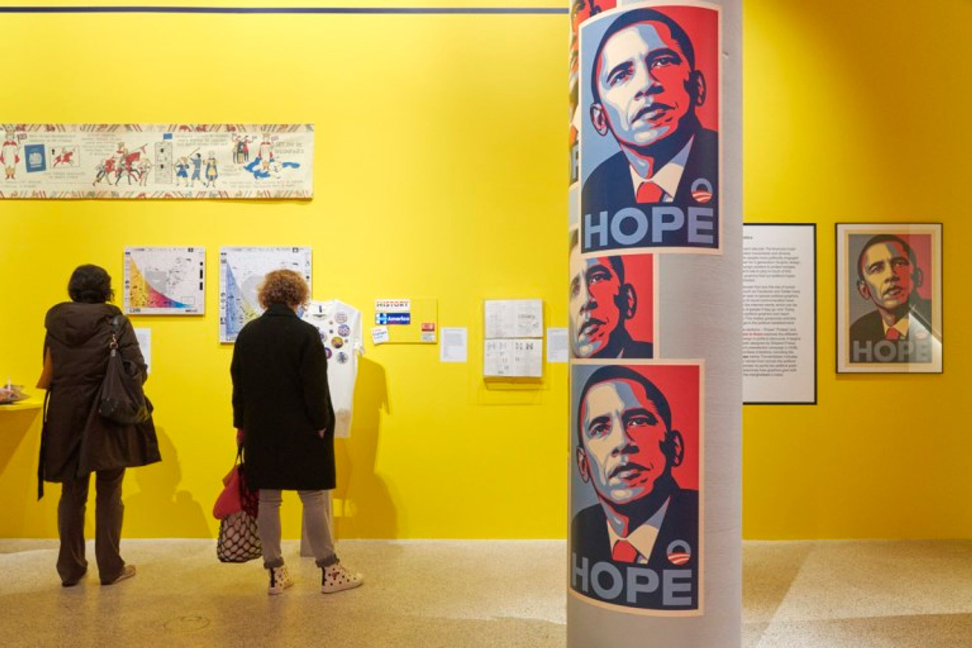 """Shepard Fairey is calling for his """"Hope"""" poster of Barack Obama to be removed from the Design Museum Photo courtesy of the Design Museum London"""