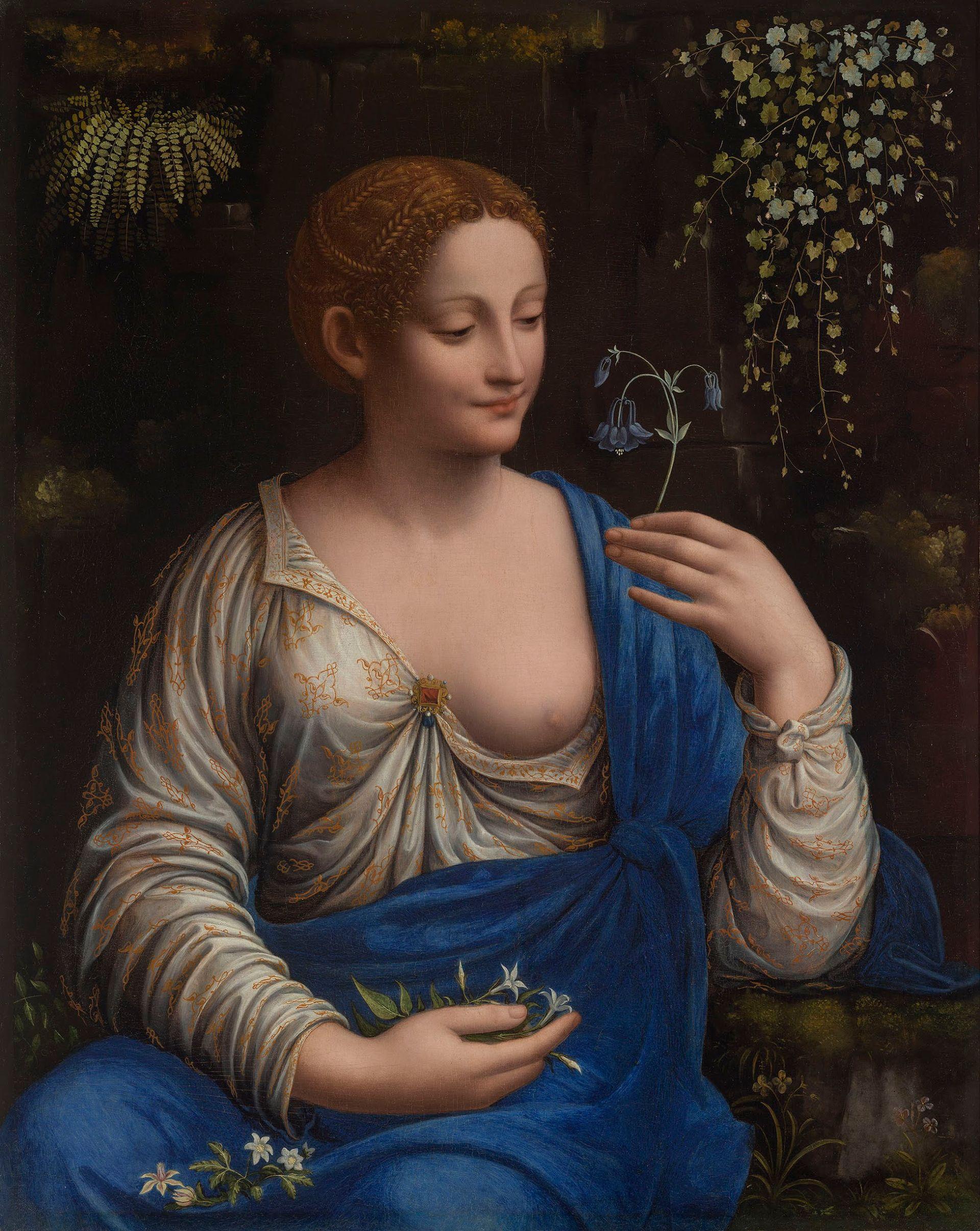 Francesco Melzi, Flora (about 1520) © The State Hermitage Museum, St. Petersburg, 2019. Photo: Vladimir Terebenin