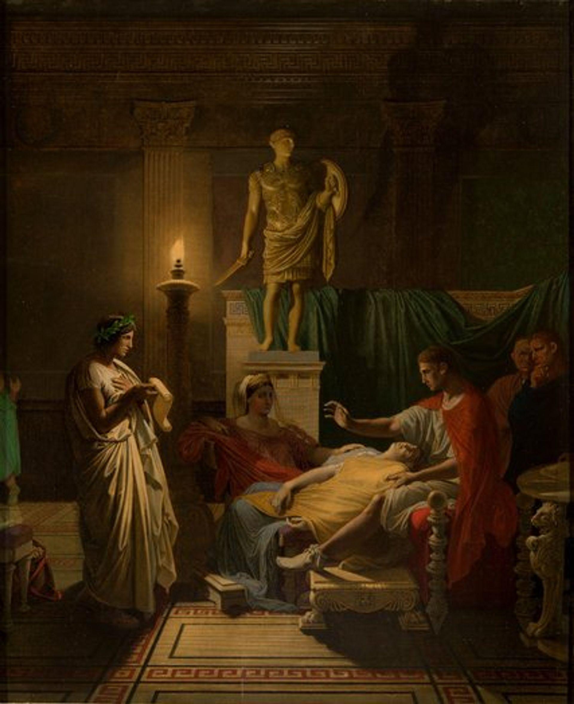 Deaccessioned: Virgil Reading the Aeneid Before Augustus (1865) by Jean-Auguste-Dominique Ingres Courtesy La Salle University Art Museum,