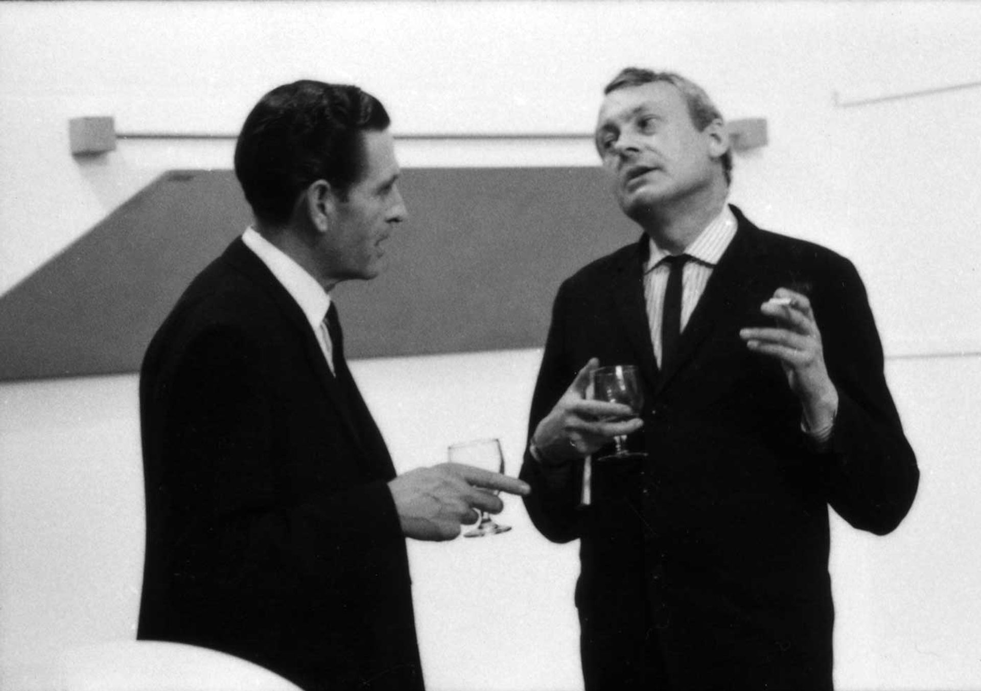 Bryan Robertson (right) at The New Generation exhibition at the Whitechapel Gallery, London, 1968 Whitechapel Gallery Archive
