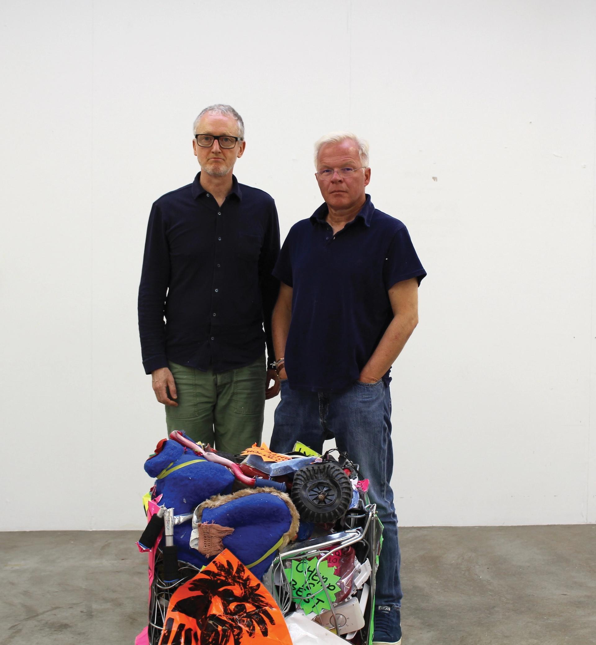 Michael Landy (left) was signed by Karsten Schubert 30 years ago