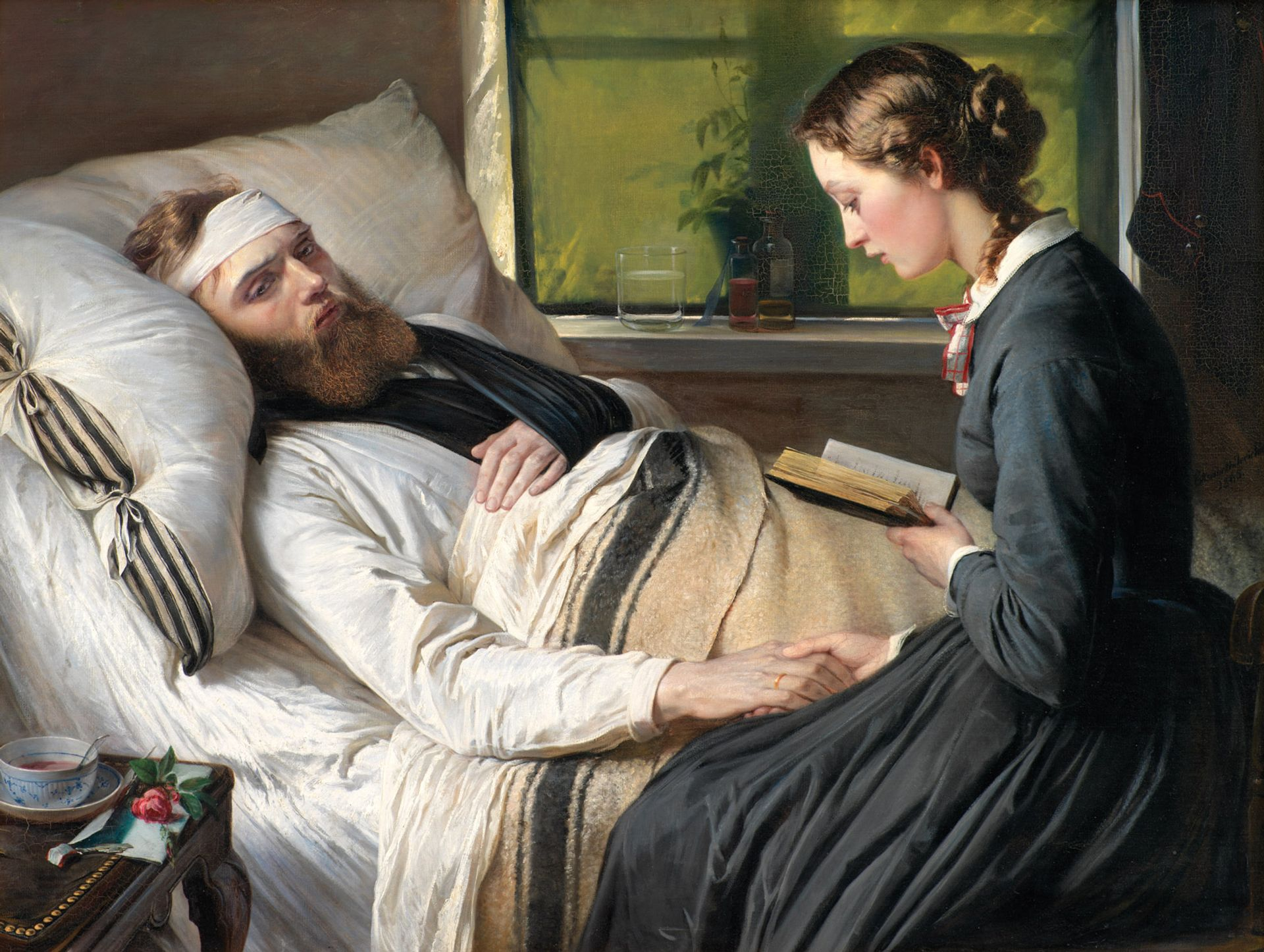 Elisabeth Jerichau-Baumann, A Wounded Danish Soldier (1865) Courtesy of the Statens Museum for Kunst