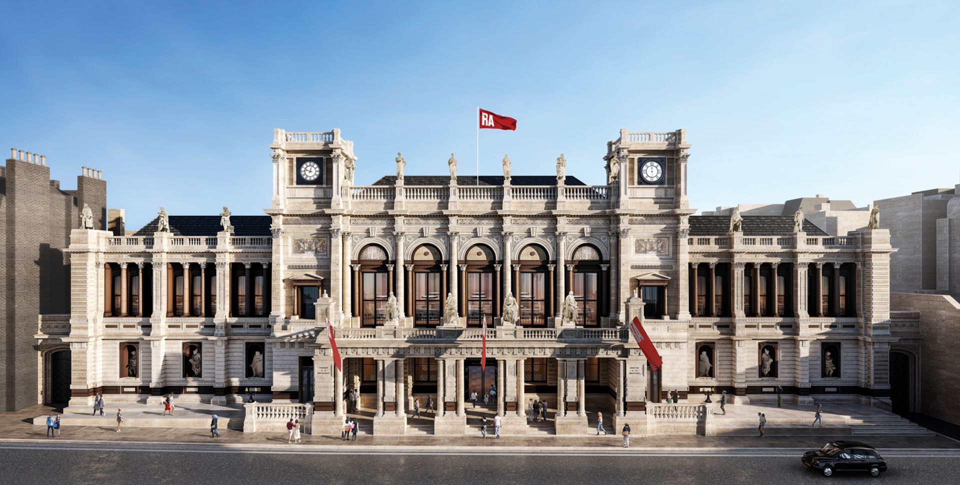 How the façade of the Royal Academy's Burlington Gardens will look after the revamp Royal Academy of Arts