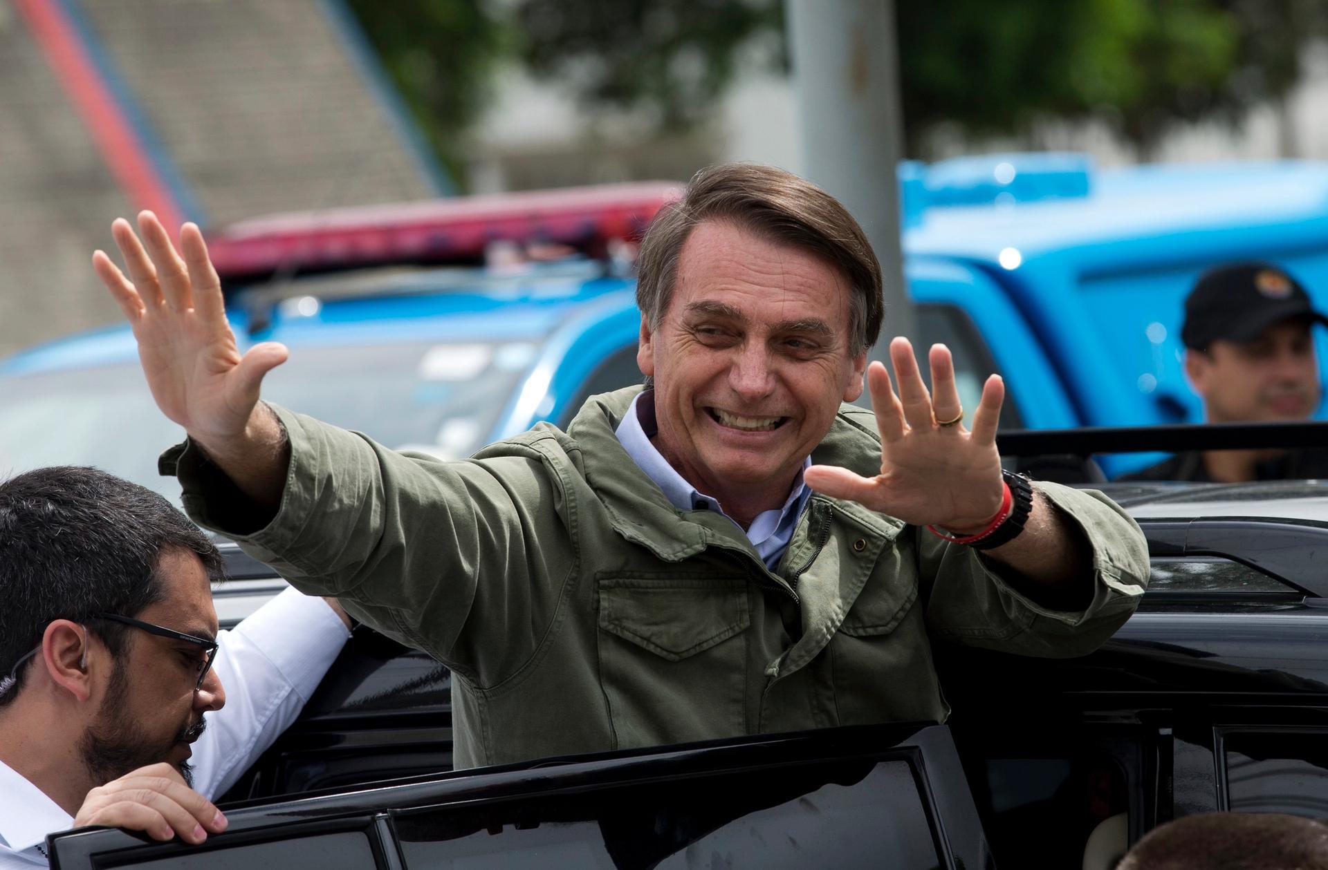 Jair Bolsonaro takes up Brazil's presidency on 1 January AP Photo/Silvia izquierdo