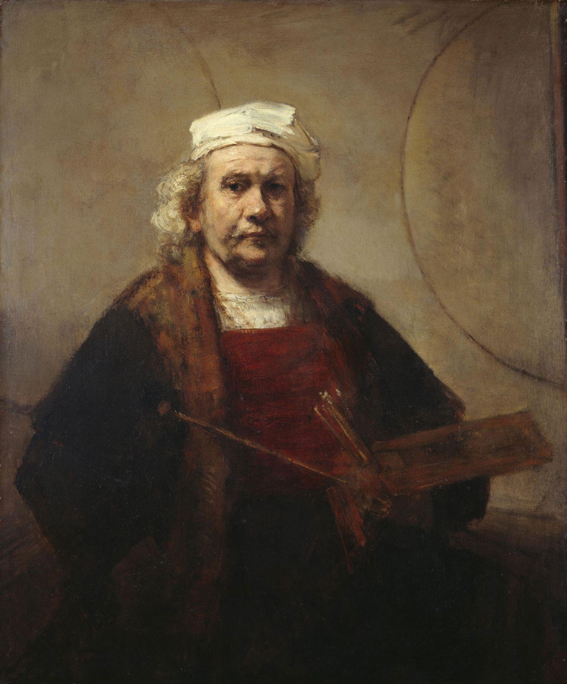 Rembrandt van Rijn, Self-Portrait with Two Circles (around 1665) Photo: © Historic England Photo Library