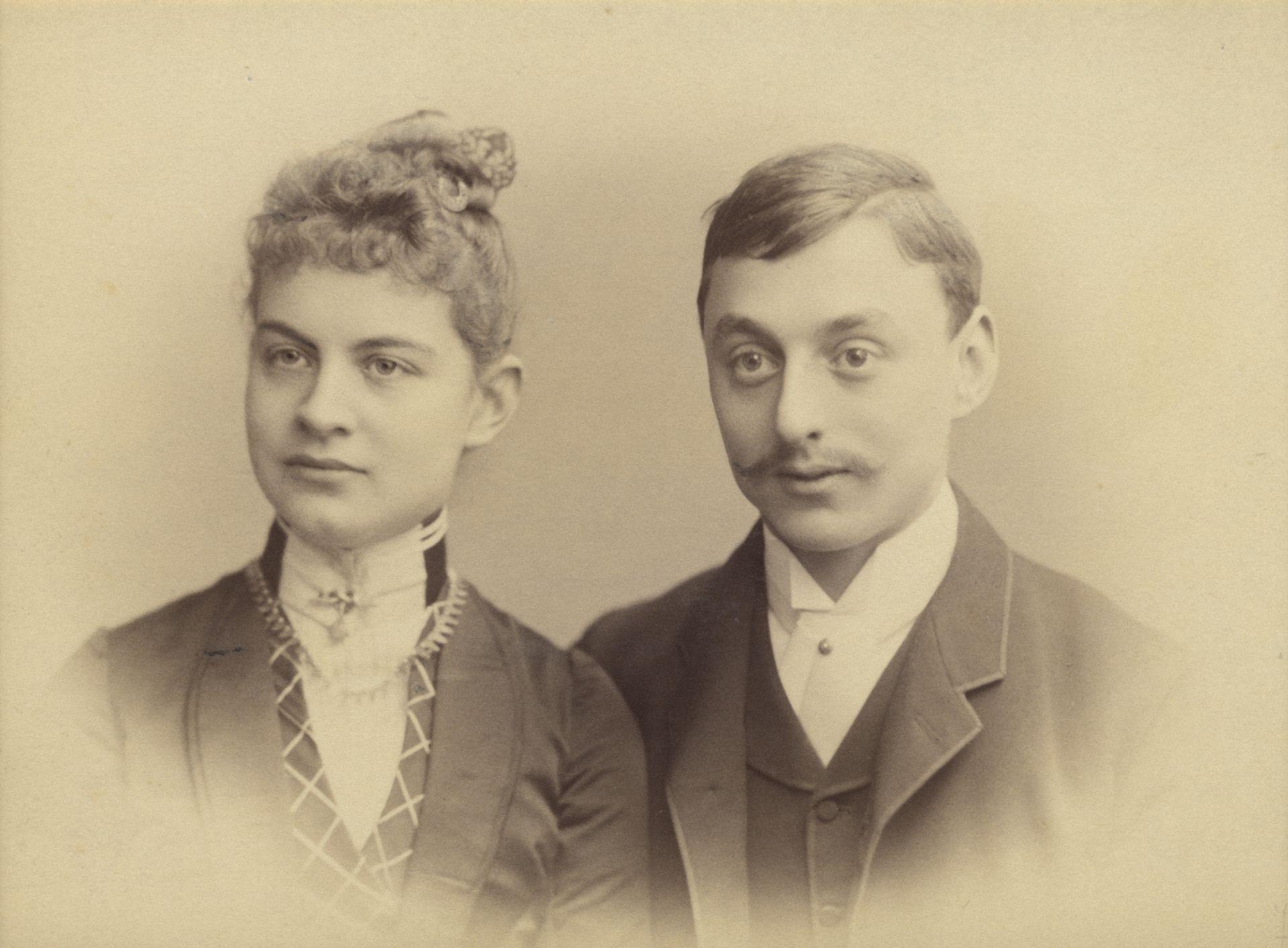 Engagement photograph of Helene Müller and Anton Kröller (1887-88) Courtesy of the Kröller-Müller Museum, Otterlo