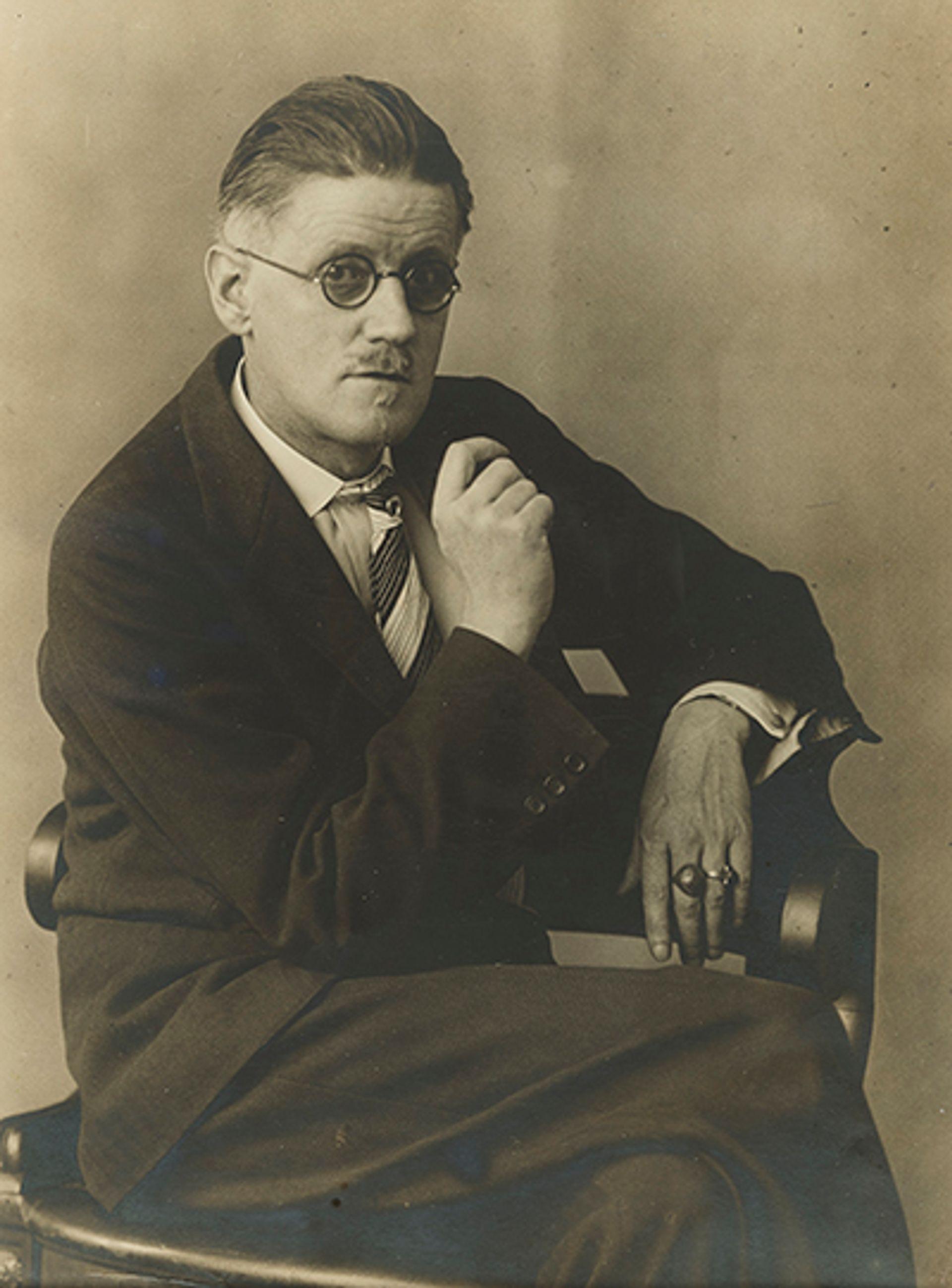 Portrait of James Joyce by Berenice Abbott Sutton