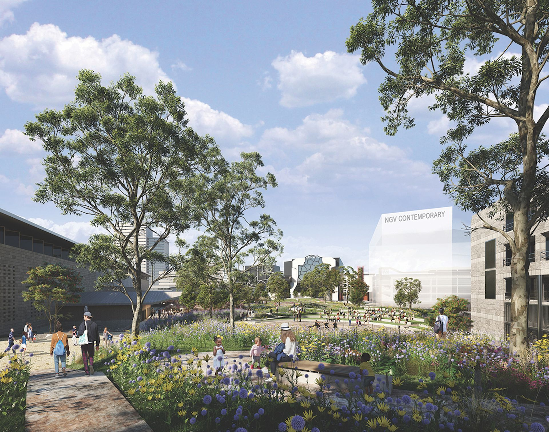 A proposed public garden will join the NGV Contemporary and the NGV International