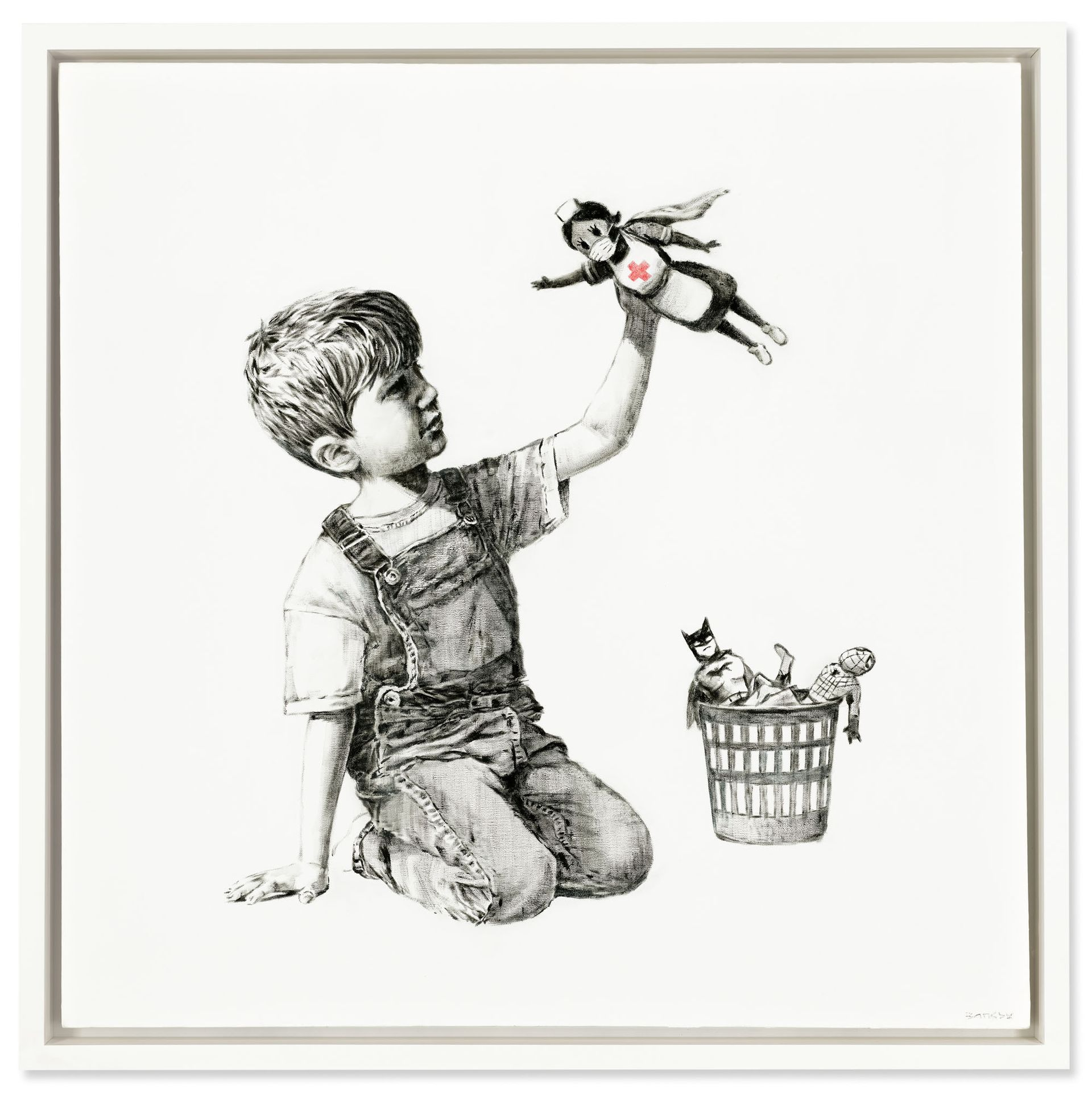 Banksy's Game Changer Courtesy of Christie's