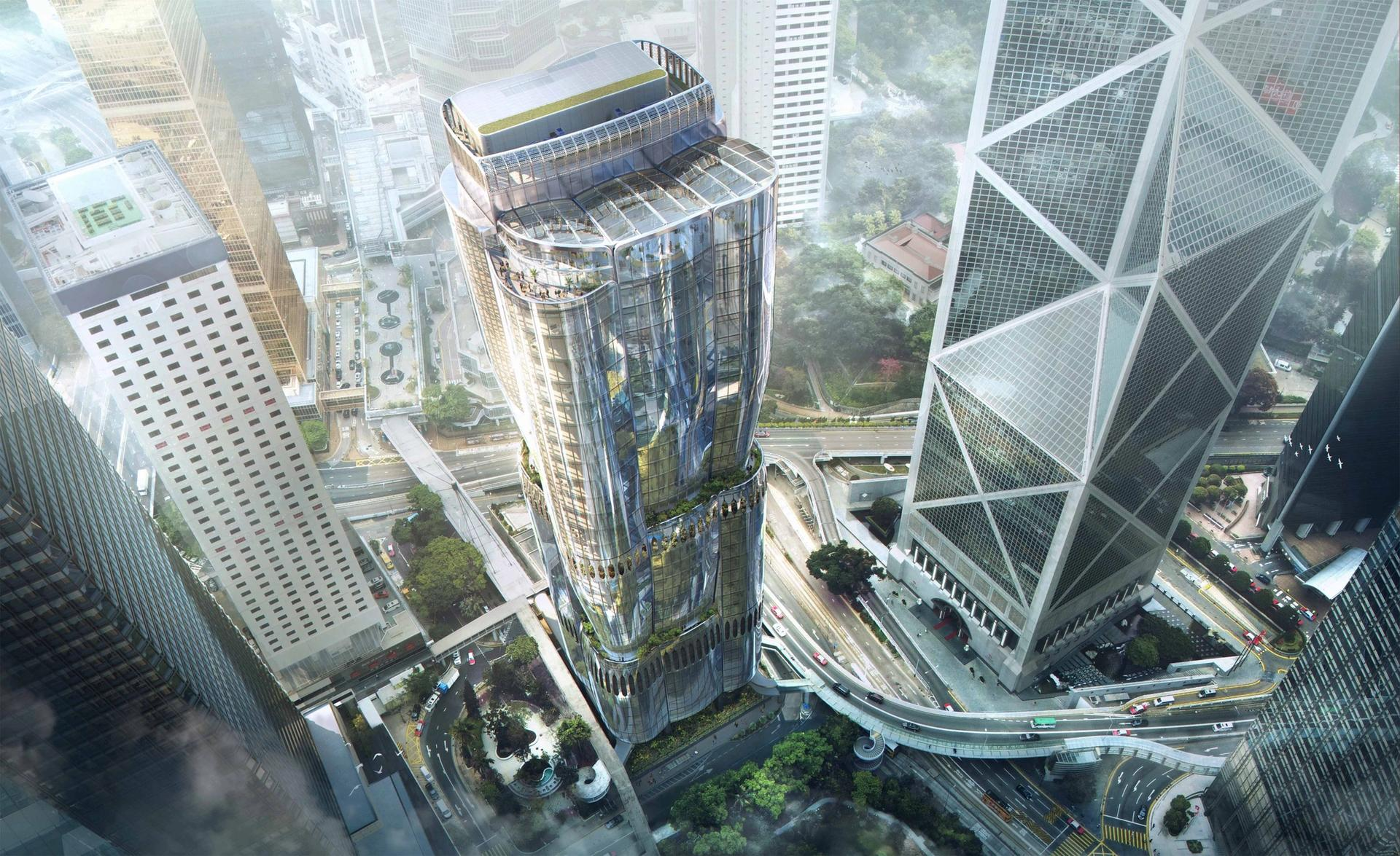 Christie's new headquarters in Asia: The Henderson, Hong Kong by Zaha Hadid Architects for Henderson Land Courtesy of Christie's