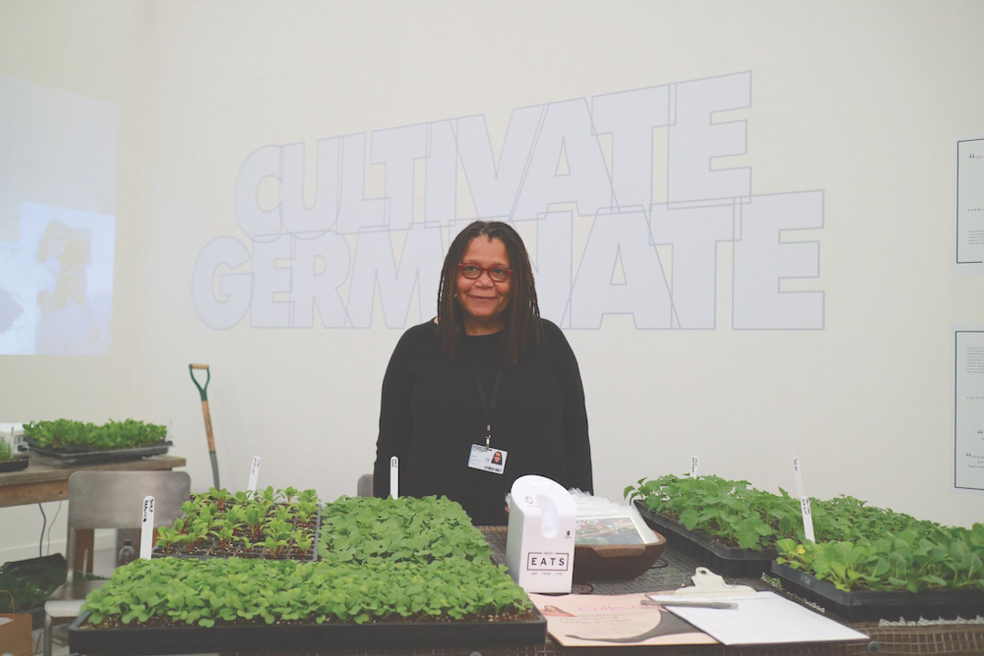 At Frieze New York Linda Goode Bryant is promoting Project Eats, the Brooklyn-based farming charity that she runs Casey Fatchett