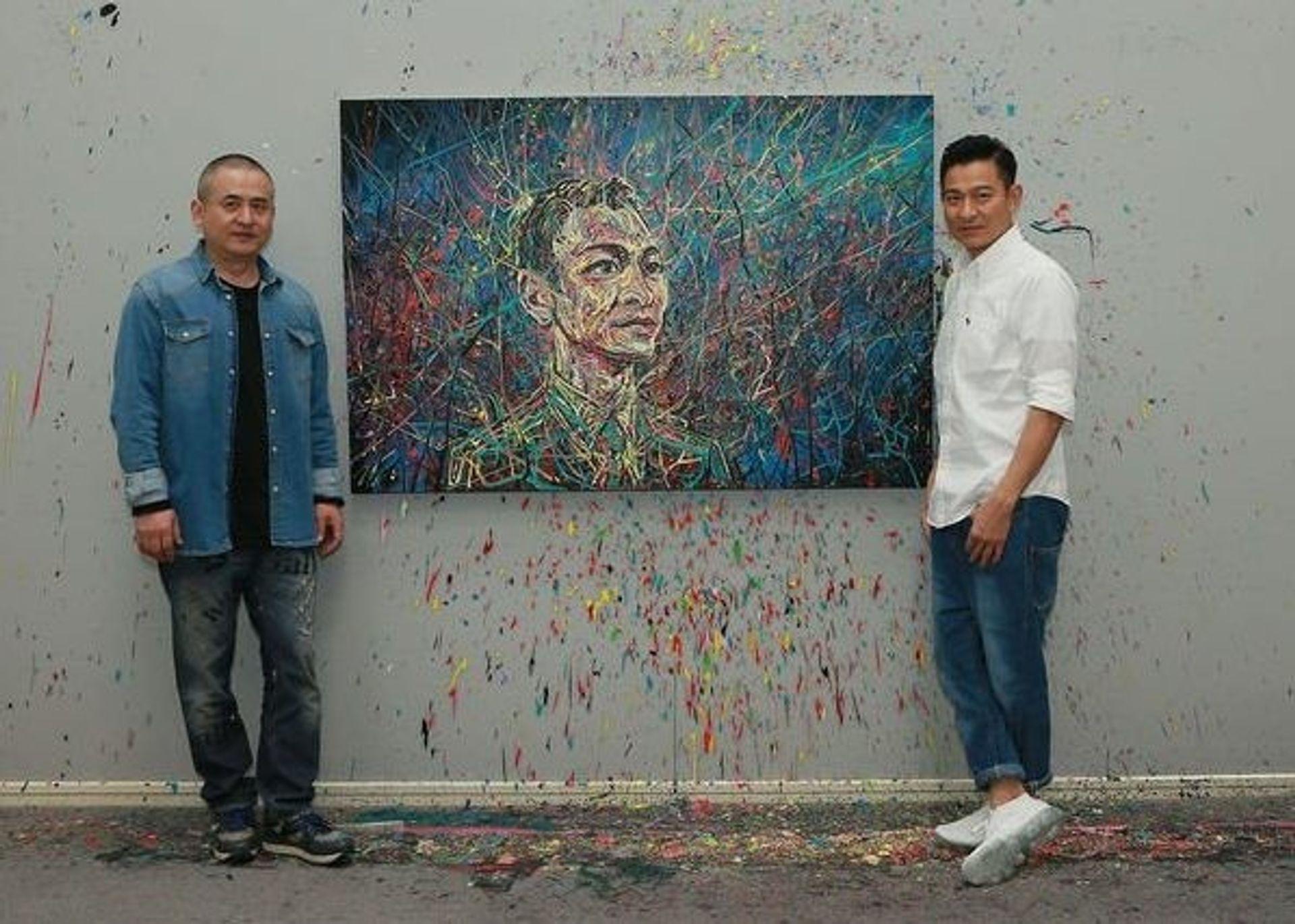 Chinese artist Zeng Fanzhi with the Hong Kong star Andy Lau Webo