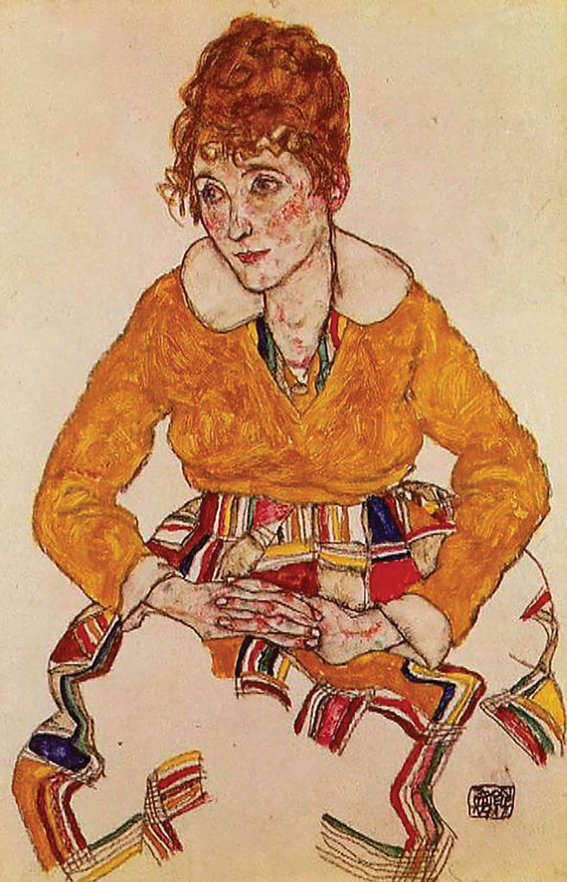 Exhibit A: Egon Schiele, Portrait of the Artist's Wife (1917)